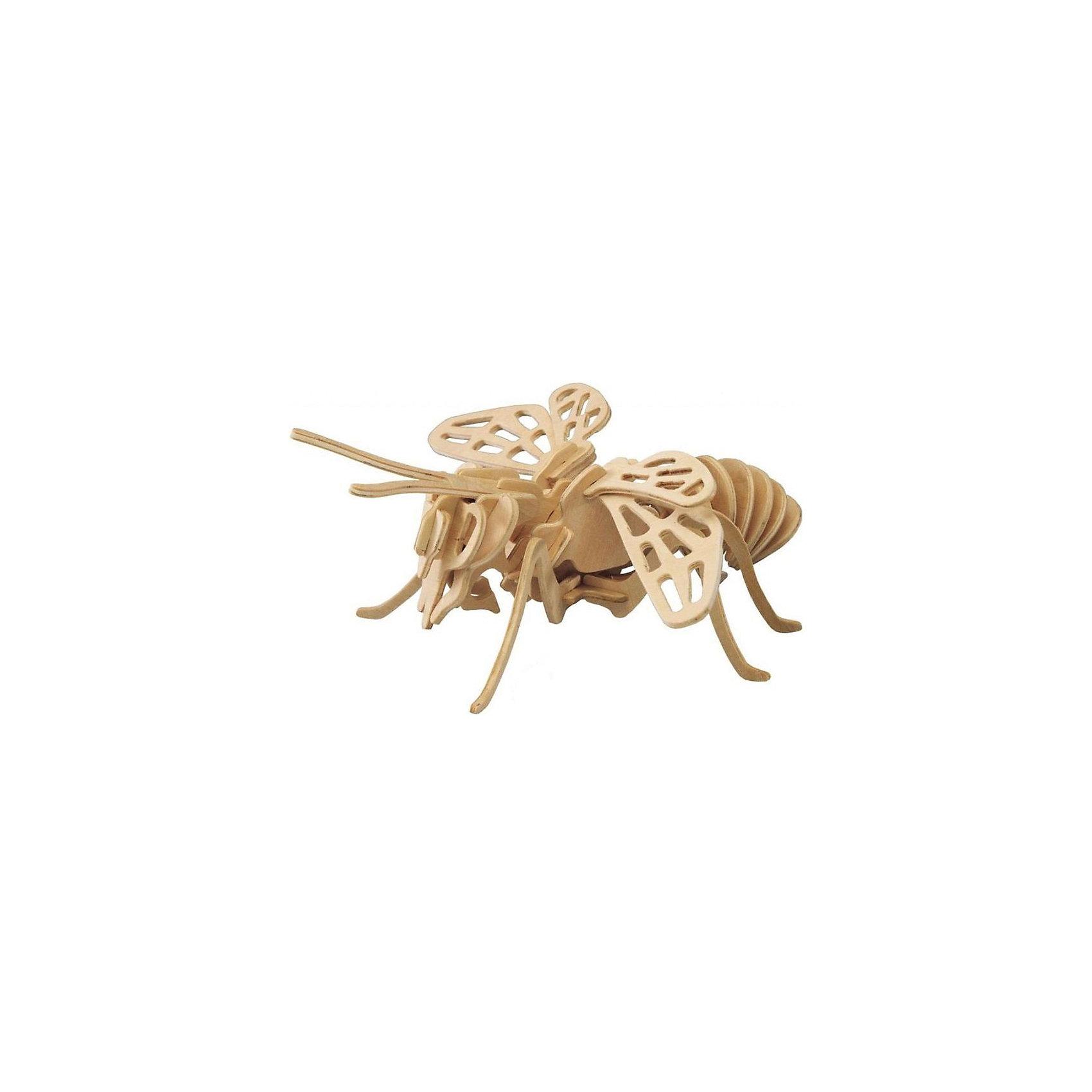 Пчела, Мир деревянных игрушекСделать деревянную игрушку самому - какой ребенок откажется от этого?! Специально для любящих творчество и интересующихся животным миром были разработаны эти 3D-пазлы. Из них получаются красивые очень реалистичные фигуры, которые могут стать украшением комнаты.<br>Собирая их, ребенок будет учиться соотносить фигуры, развивать пространственное мышление, память и мелкую моторику. А раскрашивая готовое произведение, дети научатся подбирать цвета и будут развивать художественные навыки. Этот набор произведен из качественных и безопасных для детей материалов - дерево тщательно обработано.<br><br>Дополнительная информация:<br><br>материал: дерево;<br>цвет: бежевый;<br>элементы: пластины с деталями для сборки;<br>размер пластины: 23 х 18 х 1 см.<br><br>3D-пазл Пчела от бренда Мир деревянных игрушек можно купить в нашем магазине.<br><br>Ширина мм: 220<br>Глубина мм: 30<br>Высота мм: 180<br>Вес г: 400<br>Возраст от месяцев: 36<br>Возраст до месяцев: 144<br>Пол: Унисекс<br>Возраст: Детский<br>SKU: 4969013