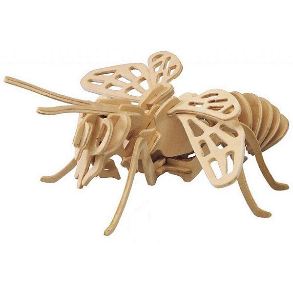 Пчела (серия Е), Мир деревянных игрушекДеревянные модели<br>Бренд Мир деревянных игрушек дает ребенку возможность самому сделать красивую деревянную фигуру! Специально для любящих творчество и интересующихся насекомыми были разработаны эти 3D-пазлы. Из них получаются красивые очень реалистичные фигуры, которые могут стать украшением комнаты.<br>Собирая их, ребенок будет учиться соотносить фигуры, развивать пространственное мышление, память и мелкую моторику. А раскрашивая готовое произведение, дети научатся подбирать цвета и будут развивать художественные навыки. Этот набор произведен из качественных и безопасных для детей материалов - дерево тщательно обработано.<br><br>Дополнительная информация:<br><br>материал: дерево;<br>цвет: бежевый;<br>элементы: четыре пластины с деталями для сборки;<br>размер готовой игрушки: 13 х 36 х 34 см.<br><br>3D-пазл Пчела (серия Е) от бренда Мир деревянных игрушек можно купить в нашем магазине.<br>Ширина мм: 220; Глубина мм: 30; Высота мм: 180; Вес г: 300; Возраст от месяцев: 36; Возраст до месяцев: 144; Пол: Унисекс; Возраст: Детский; SKU: 4969021;