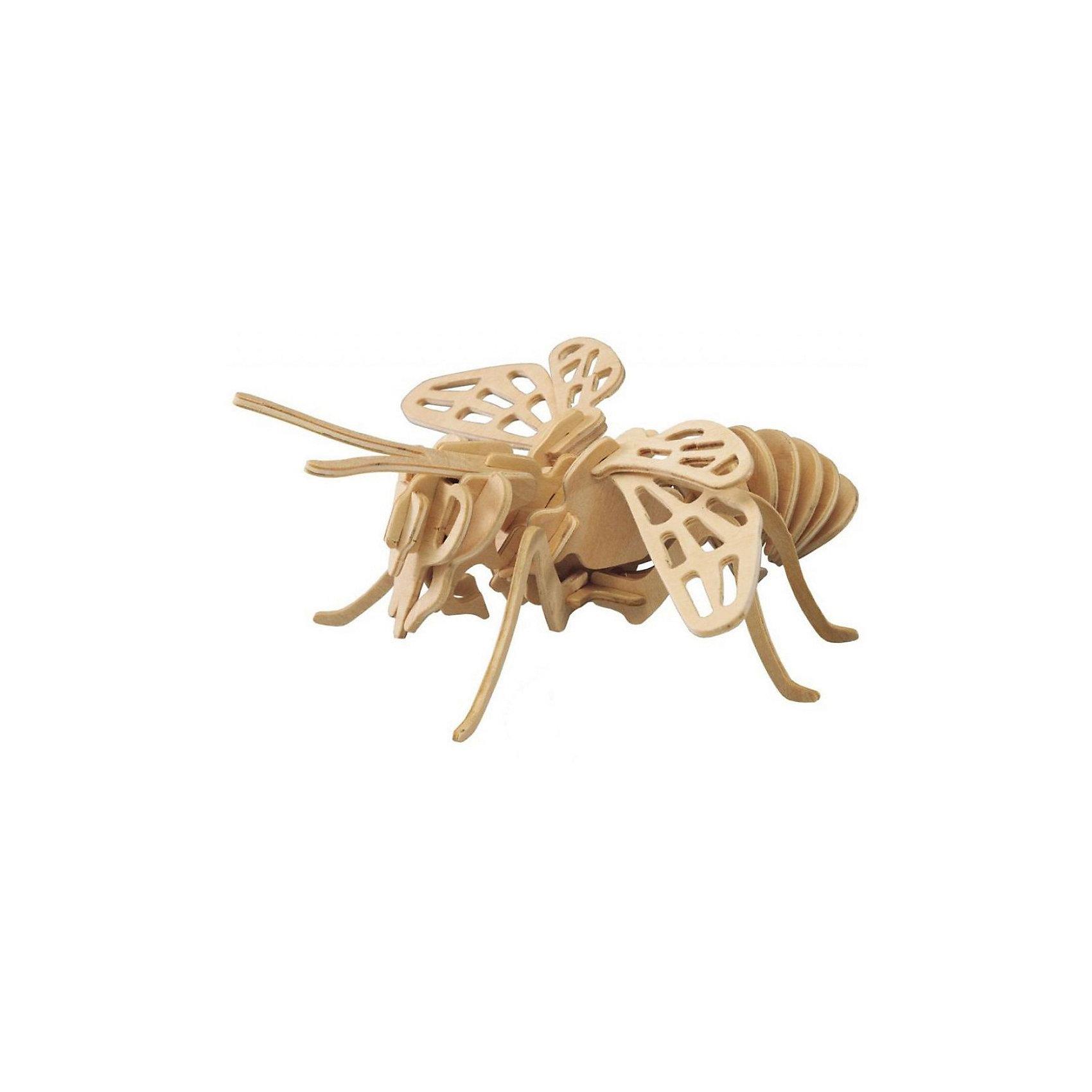 Пчела (серия Е), Мир деревянных игрушекРукоделие<br>Бренд Мир деревянных игрушек дает ребенку возможность самому сделать красивую деревянную фигуру! Специально для любящих творчество и интересующихся насекомыми были разработаны эти 3D-пазлы. Из них получаются красивые очень реалистичные фигуры, которые могут стать украшением комнаты.<br>Собирая их, ребенок будет учиться соотносить фигуры, развивать пространственное мышление, память и мелкую моторику. А раскрашивая готовое произведение, дети научатся подбирать цвета и будут развивать художественные навыки. Этот набор произведен из качественных и безопасных для детей материалов - дерево тщательно обработано.<br><br>Дополнительная информация:<br><br>материал: дерево;<br>цвет: бежевый;<br>элементы: четыре пластины с деталями для сборки;<br>размер готовой игрушки: 13 х 36 х 34 см.<br><br>3D-пазл Пчела (серия Е) от бренда Мир деревянных игрушек можно купить в нашем магазине.<br><br>Ширина мм: 220<br>Глубина мм: 30<br>Высота мм: 180<br>Вес г: 300<br>Возраст от месяцев: 36<br>Возраст до месяцев: 144<br>Пол: Унисекс<br>Возраст: Детский<br>SKU: 4969021