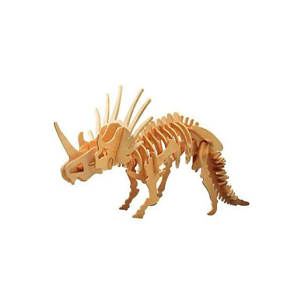 Стиракозавр, Мир деревянных игрушекДеревянные модели<br>Отличный способ для ребенка с пользой провести время и развить свои навыки - сделать деревянную игрушку самому! Специально для любящих творчество и интересующихся вымершими животными были разработаны эти 3D-пазлы. Из них получаются красивые очень реалистичные фигуры, которые могут стать украшением комнаты.<br>Собирая их, ребенок будет учиться соотносить фигуры, развивать пространственное мышление, память и мелкую моторику. А раскрашивая готовое произведение, дети научатся подбирать цвета и будут развивать художественные навыки. Этот набор произведен из качественных и безопасных для детей материалов - дерево тщательно обработано.<br><br>Дополнительная информация:<br><br>материал: дерево;<br>цвет: бежевый;<br>элементы: пластины с деталями для сборки;<br>размер упаковки: 23 х 37 см.<br><br>3D-пазл Стиракозавр от бренда Мир деревянных игрушек можно купить в нашем магазине.<br><br>Ширина мм: 350<br>Глубина мм: 30<br>Высота мм: 225<br>Вес г: 633<br>Возраст от месяцев: 36<br>Возраст до месяцев: 144<br>Пол: Унисекс<br>Возраст: Детский<br>SKU: 4969035