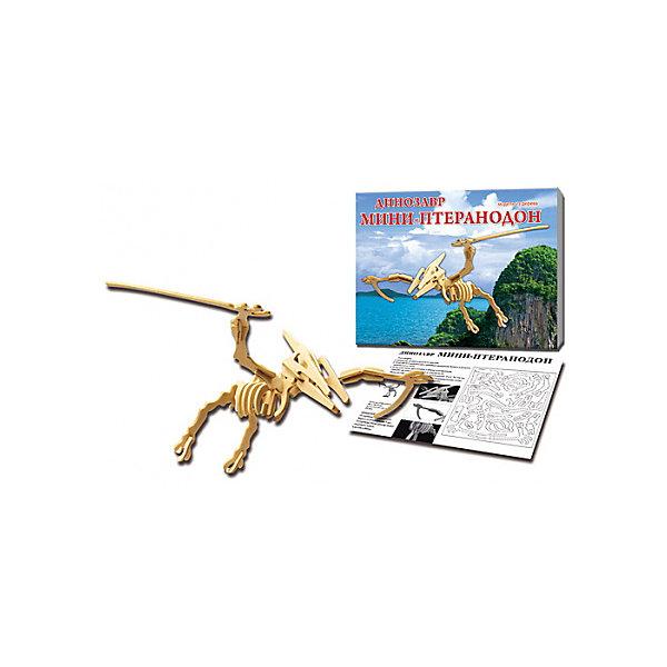 Птеранодон, Мир деревянных игрушекДеревянные модели<br>Бренд Мир деревянных игрушек дает ребенку возможность самому сделать красивую деревянную фигуру! Специально для любящих творчество и интересующихся вымершими животными были разработаны эти 3D-пазлы. Из них получаются красивые очень реалистичные фигуры, которые могут стать украшением комнаты.<br>Собирая их, ребенок будет учиться соотносить фигуры, развивать пространственное мышление, память и мелкую моторику. А раскрашивая готовое произведение, дети научатся подбирать цвета и будут развивать художественные навыки. Этот набор произведен из качественных и безопасных для детей материалов - дерево тщательно обработано.<br><br>Дополнительная информация:<br><br>материал: дерево;<br>цвет: бежевый;<br>элементы: пластины с деталями для сборки;<br>размер упаковки: 23 х 18 см.<br><br>3D-пазл Птеранодон от бренда Мир деревянных игрушек можно купить в нашем магазине.<br>Ширина мм: 225; Глубина мм: 30; Высота мм: 180; Вес г: 471; Возраст от месяцев: 36; Возраст до месяцев: 144; Пол: Унисекс; Возраст: Детский; SKU: 4969037;