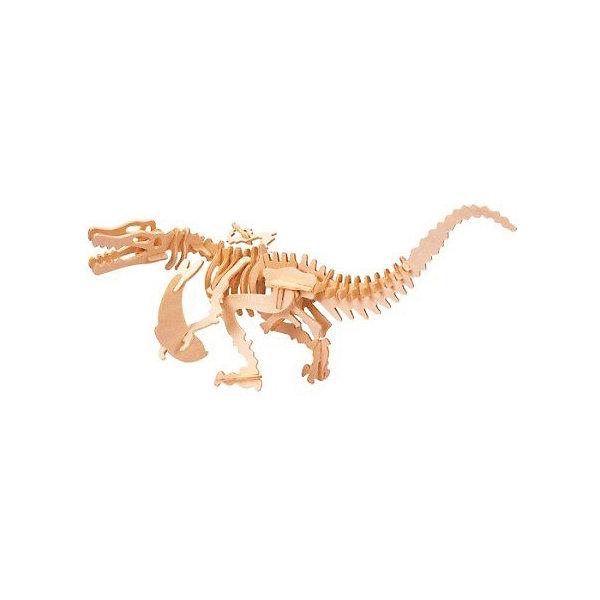 Баройоникс, Мир деревянных игрушекДеревянные модели<br>Удачный вариант подарка для творческого ребенка - этот набор, из которого можно самому сделать красивую деревянную фигуру! Для этого нужно выдавить из пластины с деталями элементы для сборки и соединить их. Специально для любящих творчество и интересующихся вымершими животными были разработаны эти 3D-пазлы. Из них получаются красивые очень реалистичные фигуры, которые могут стать украшением комнаты.<br>Собирая их, ребенок будет учиться соотносить фигуры, развивать пространственное мышление, память и мелкую моторику. А раскрашивая готовое произведение, дети научатся подбирать цвета и будут развивать художественные навыки. Этот набор произведен из качественных и безопасных для детей материалов - дерево тщательно обработано.<br><br>Дополнительная информация:<br><br>материал: дерево;<br>цвет: бежевый;<br>элементы: пластины с деталями для сборки;<br>размер упаковки: 23 х 18 см.<br><br>3D-пазл Баройоникс от бренда Мир деревянных игрушек можно купить в нашем магазине.<br>Ширина мм: 225; Глубина мм: 30; Высота мм: 180; Вес г: 450; Возраст от месяцев: 36; Возраст до месяцев: 144; Пол: Унисекс; Возраст: Детский; SKU: 4969038;