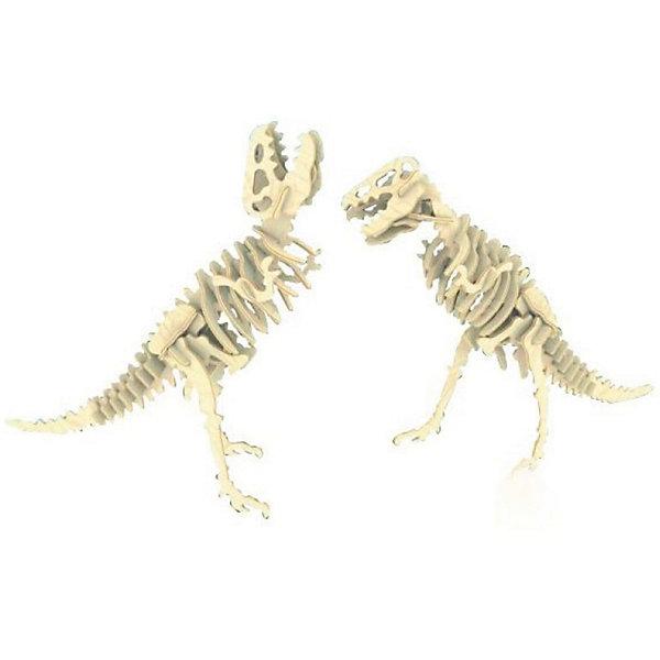 Тиранозавр (2в1), Мир деревянных игрушекДеревянные модели<br>Бренд Мир деревянных игрушек дает ребенку возможность самому сделать красивую деревянную фигуру! Специально для любящих творчество и интересующихся вымершими животными были разработаны эти 3D-пазлы. Из них получаются красивые очень реалистичные фигуры, которые могут стать украшением комнаты.<br>Собирая их, ребенок будет учиться соотносить фигуры, развивать пространственное мышление, память и мелкую моторику. А раскрашивая готовое произведение, дети научатся подбирать цвета и будут развивать художественные навыки. Этот набор произведен из качественных и безопасных для детей материалов - дерево тщательно обработано.<br><br>Дополнительная информация:<br><br>материал: дерево;<br>цвет: бежевый;<br>элементы:62 шт;<br>комплектация: детали для сборки двух игрушек,наждачная бумага;<br>размер упаковки: 23 х 18 см.<br><br>3D-пазл Тиранозавр (2в1) от бренда Мир деревянных игрушек можно купить в нашем магазине.<br><br>Ширина мм: 225<br>Глубина мм: 30<br>Высота мм: 180<br>Вес г: 450<br>Возраст от месяцев: 36<br>Возраст до месяцев: 144<br>Пол: Унисекс<br>Возраст: Детский<br>SKU: 4969052