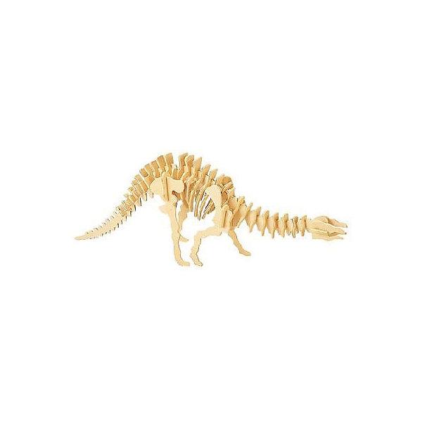 Гигантский Спинозавр, Мир деревянных игрушекДеревянные модели<br>Удачный вариант подарка для творческого ребенка - этот набор, из которого можно самому сделать красивую деревянную фигуру! Для этого нужно выдавить из пластины с деталями элементы для сборки и соединить их. Специально для любящих творчество и интересующихся вымершими животными были разработаны эти 3D-пазлы. Из них получаются красивые очень реалистичные фигуры, которые могут стать украшением комнаты.<br>Собирая их, ребенок будет учиться соотносить фигуры, развивать пространственное мышление, память и мелкую моторику. А раскрашивая готовое произведение, дети научатся подбирать цвета и будут развивать художественные навыки. Этот набор произведен из качественных и безопасных для детей материалов - дерево тщательно обработано.<br><br>Дополнительная информация:<br><br>материал: дерево;<br>цвет: бежевый;<br>элементы: пластины с деталями для сборки;<br>размер упаковки: 23 х 18 см.<br><br>3D-пазл Гигантский Спинозавр от бренда Мир деревянных игрушек можно купить в нашем магазине.<br>Ширина мм: 225; Глубина мм: 30; Высота мм: 180; Вес г: 450; Возраст от месяцев: 36; Возраст до месяцев: 144; Пол: Унисекс; Возраст: Детский; SKU: 4969053;