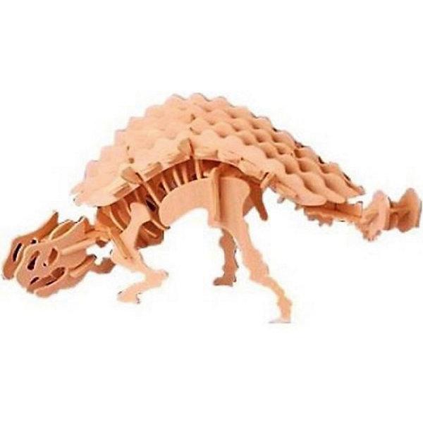 Анкилозавр, Мир деревянных игрушекДеревянные модели<br>Бренд Мир деревянных игрушек дает ребенку возможность самому сделать красивую деревянную фигуру! Специально для любящих творчество и интересующихся вымершими животными были разработаны эти 3D-пазлы. Из них получаются красивые очень реалистичные фигуры, которые могут стать украшением комнаты.<br>Собирая их, ребенок будет учиться соотносить фигуры, развивать пространственное мышление, память и мелкую моторику. А раскрашивая готовое произведение, дети научатся подбирать цвета и будут развивать художественные навыки. Этот набор произведен из качественных и безопасных для детей материалов - дерево тщательно обработано.<br><br>Дополнительная информация:<br><br>материал: дерево;<br>цвет: бежевый;<br>элементы: пластины с деталями для сборки;<br>размер упаковки: 23 х 18 см.<br><br>3D-пазл Анкилозавр от бренда Мир деревянных игрушек можно купить в нашем магазине.<br>Ширина мм: 225; Глубина мм: 30; Высота мм: 180; Вес г: 450; Возраст от месяцев: 36; Возраст до месяцев: 144; Пол: Унисекс; Возраст: Детский; SKU: 4969054;