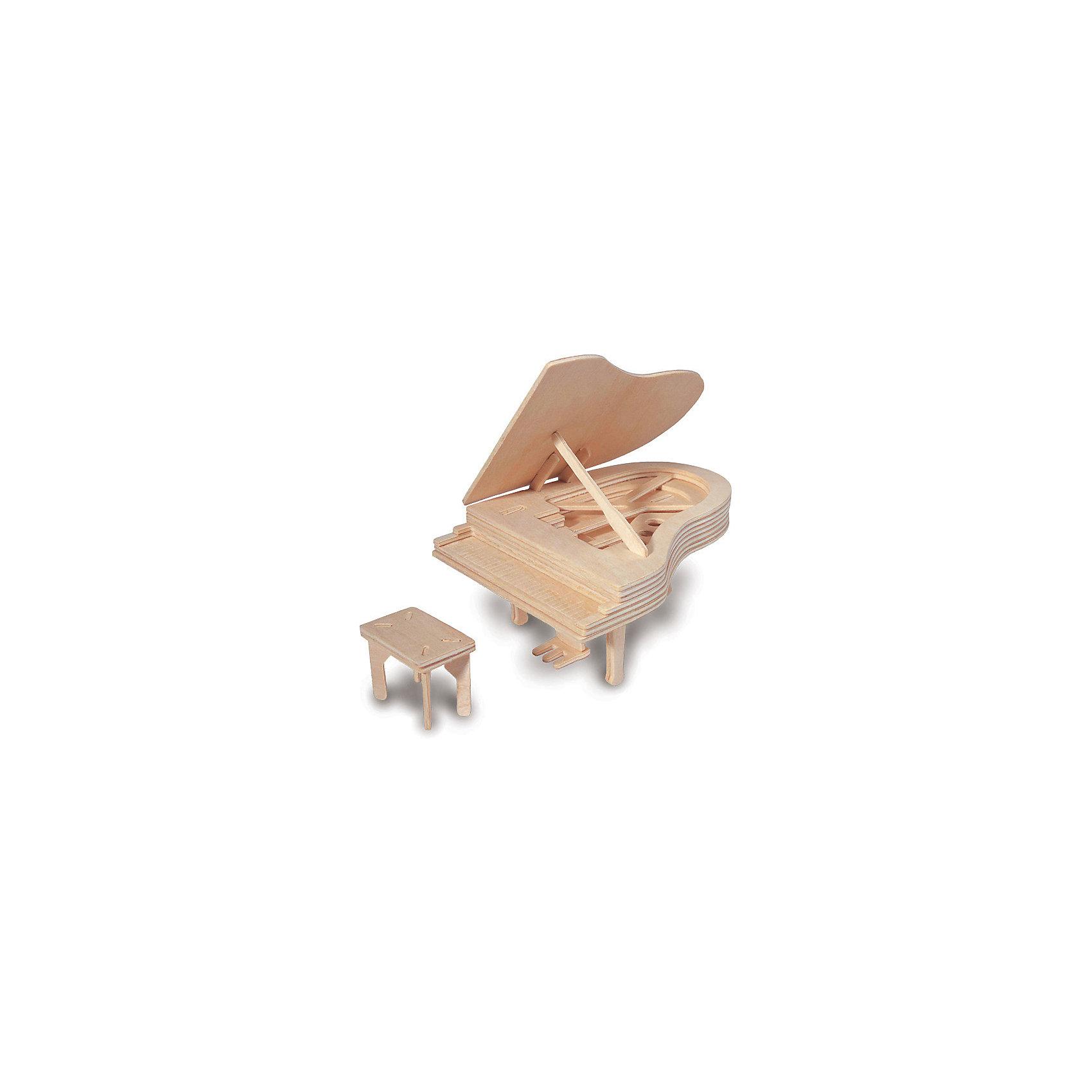 Пианино, Мир деревянных игрушекДеревянные конструкторы<br>Отличный вариант подарка для творческого ребенка - этот набор, из которого можно самому сделать красивую деревянную фигуру! Для этого нужно выдавить из пластины с деталями элементы для сборки и соединить их. Специально для детей, любящих творчество и интересующихся музыкой, были разработаны эти 3D-пазлы. Из них получаются красивые очень реалистичные фигуры, которые могут стать украшением комнаты.<br>Собирая их, ребенок будет учиться соотносить фигуры, развивать пространственное мышление, память и мелкую моторику. А раскрашивая готовое произведение, дети научатся подбирать цвета и будут развивать художественные навыки. Этот набор произведен из качественных и безопасных для детей материалов - дерево тщательно обработано.<br><br>Дополнительная информация:<br><br>материал: дерево;<br>цвет: бежевый;<br>элементы: пластины с деталями для сборки;<br>размер упаковки: 23 х 18 см.<br><br>3D-пазл Пианино от бренда Мир деревянных игрушек можно купить в нашем магазине.<br><br>Ширина мм: 225<br>Глубина мм: 30<br>Высота мм: 180<br>Вес г: 450<br>Возраст от месяцев: 36<br>Возраст до месяцев: 144<br>Пол: Унисекс<br>Возраст: Детский<br>SKU: 4969056
