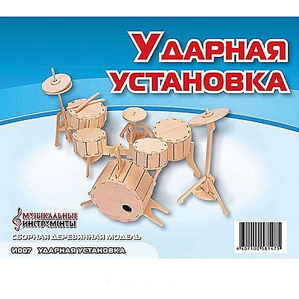 Ударная установка, Мир деревянных игрушекДеревянные модели<br>Отличный вариант подарка для творческого ребенка - этот набор, из которого можно самому сделать красивую деревянную фигуру! Для этого нужно выдавить из пластины с деталями элементы для сборки и соединить их. Специально для детей, любящих творчество и интересующихся музыкой, были разработаны эти 3D-пазлы. Из них получаются красивые очень реалистичные фигуры, которые могут стать украшением комнаты.<br>Собирая их, ребенок будет учиться соотносить фигуры, развивать пространственное мышление, память и мелкую моторику. А раскрашивая готовое произведение, дети научатся подбирать цвета и будут развивать художественные навыки. Этот набор произведен из качественных и безопасных для детей материалов - дерево тщательно обработано.<br><br>Дополнительная информация:<br><br>материал: дерево;<br>цвет: бежевый;<br>элементы: пластины с деталями для сборки;<br>размер упаковки: 23 х 18 см.<br><br>3D-пазл Ударная установка от бренда Мир деревянных игрушек можно купить в нашем магазине.<br>Ширина мм: 225; Глубина мм: 30; Высота мм: 180; Вес г: 450; Возраст от месяцев: 36; Возраст до месяцев: 144; Пол: Унисекс; Возраст: Детский; SKU: 4969057;