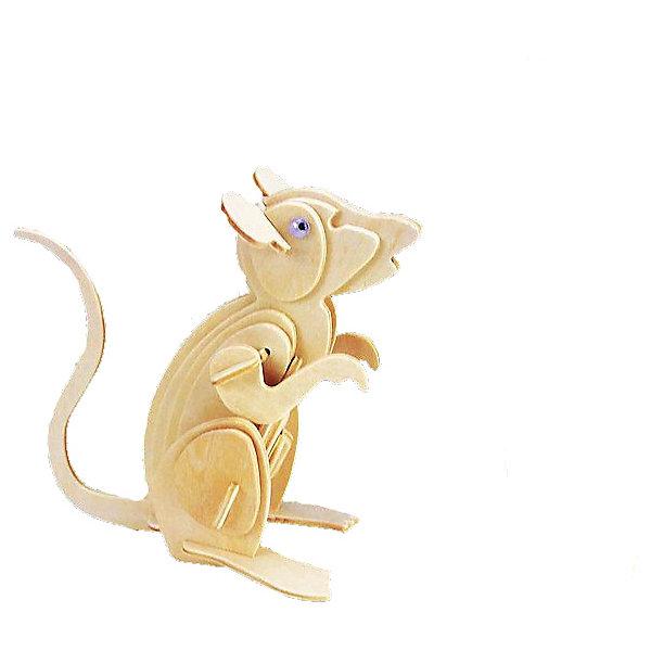 Мышь, Мир деревянных игрушекДеревянные модели<br>Развивать свои способности ребенок может, сам собирая деревянные фигуры! Специально для любящих творчество и интересующихся животным миром были разработаны эти 3D-пазлы. Из них получаются красивые очень реалистичные фигуры, которые могут стать украшением комнаты. Для этого нужно выдавить из пластины с деталями элементы для сборки и соединить их. <br>Собирая их, ребенок будет учиться соотносить фигуры, развивать пространственное мышление, память и мелкую моторику. А раскрашивая готовое произведение, дети научатся подбирать цвета и будут развивать художественные навыки. Этот набор произведен из качественных и безопасных для детей материалов - дерево тщательно обработано.<br><br>Дополнительная информация:<br><br>материал: дерево;<br>цвет: бежевый;<br>элементы: пластины с деталями для сборки;<br>размер упаковки: 23 х 18 см.<br><br>3D-пазл Мышь от бренда Мир деревянных игрушек можно купить в нашем магазине.<br><br>Ширина мм: 225<br>Глубина мм: 30<br>Высота мм: 180<br>Вес г: 450<br>Возраст от месяцев: 36<br>Возраст до месяцев: 144<br>Пол: Унисекс<br>Возраст: Детский<br>SKU: 4969058