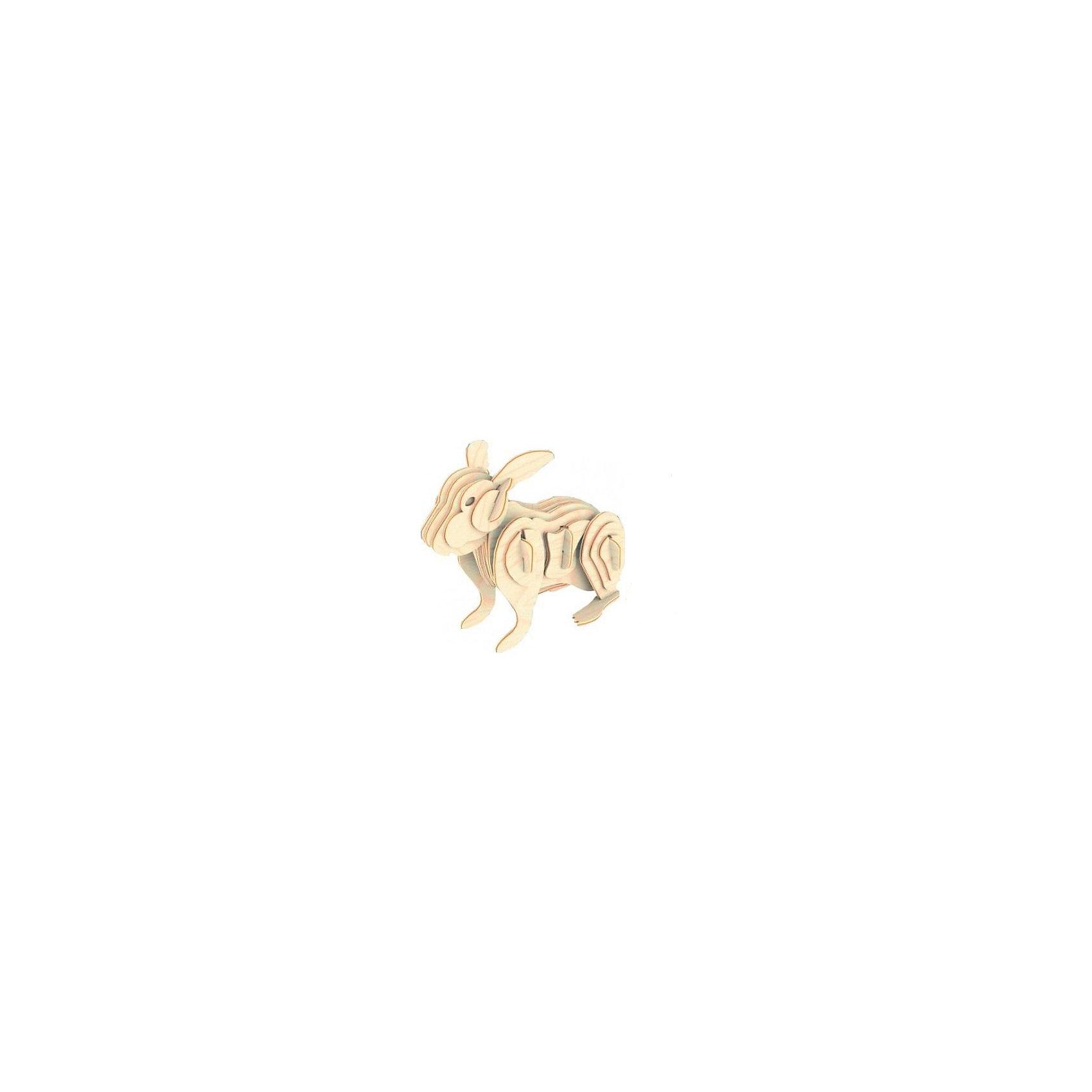 Кролик (серия М), Мир деревянных игрушекДеревянные модели<br>Отличный вариант подарка для творческого ребенка - этот набор, из которого можно самому сделать красивую деревянную фигуру! Специально для любящих творчество и интересующихся животным миром были разработаны эти 3D-пазлы. Из них получаются красивые очень реалистичные фигуры, которые могут стать украшением комнаты. Для этого нужно выдавить из пластины с деталями элементы для сборки и соединить их. <br>Собирая их, ребенок будет учиться соотносить фигуры, развивать пространственное мышление, память и мелкую моторику. А раскрашивая готовое произведение, дети научатся подбирать цвета и будут развивать художественные навыки. Этот набор произведен из качественных и безопасных для детей материалов - дерево тщательно обработано.<br><br>Дополнительная информация:<br><br>материал: дерево;<br>цвет: бежевый;<br>элементы: пластины с деталями для сборки;<br>размер упаковки: 23 х 18 см.<br><br>3D-пазл Кролик (серия М) от бренда Мир деревянных игрушек можно купить в нашем магазине.<br><br>Ширина мм: 225<br>Глубина мм: 30<br>Высота мм: 180<br>Вес г: 450<br>Возраст от месяцев: 36<br>Возраст до месяцев: 144<br>Пол: Унисекс<br>Возраст: Детский<br>SKU: 4969061