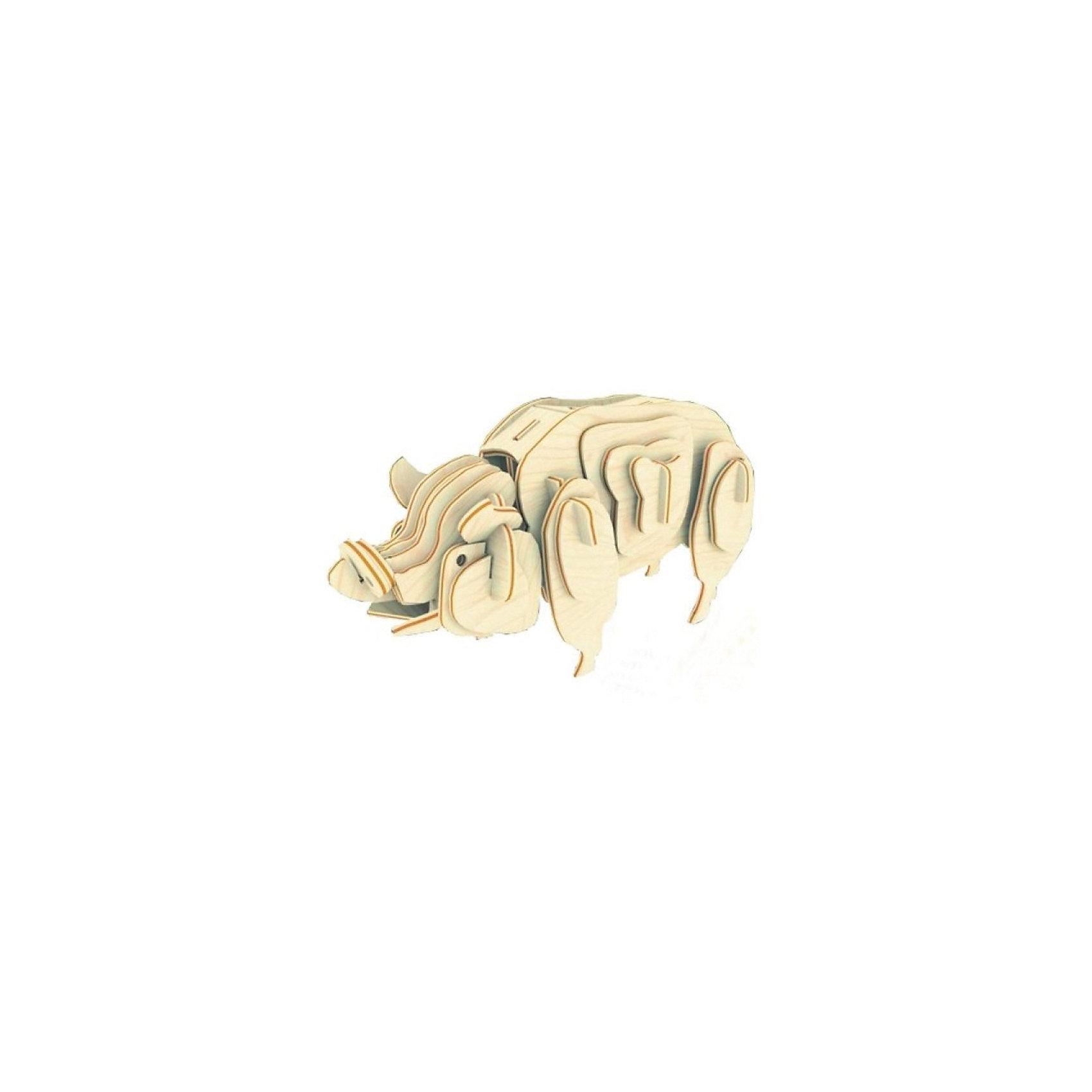 Свинья (серия М), Мир деревянных игрушекДеревянные модели<br>Отличный вариант подарка для творческого ребенка - этот набор, из которого можно самому сделать красивую деревянную фигуру! Специально для любящих творчество и интересующихся животным миром были разработаны эти 3D-пазлы. Из них получаются красивые очень реалистичные фигуры, которые могут стать украшением комнаты. Для этого нужно выдавить из пластины с деталями элементы для сборки и соединить их. <br>Собирая их, ребенок будет учиться соотносить фигуры, развивать пространственное мышление, память и мелкую моторику. А раскрашивая готовое произведение, дети научатся подбирать цвета и будут развивать художественные навыки. Этот набор произведен из качественных и безопасных для детей материалов - дерево тщательно обработано.<br><br>Дополнительная информация:<br><br>материал: дерево;<br>цвет: бежевый;<br>элементы: пластины с деталями для сборки;<br>размер упаковки: 23 х 18 см.<br><br>3D-пазл Свинья (серия М) от бренда Мир деревянных игрушек можно купить в нашем магазине.<br><br>Ширина мм: 225<br>Глубина мм: 30<br>Высота мм: 180<br>Вес г: 450<br>Возраст от месяцев: 36<br>Возраст до месяцев: 144<br>Пол: Унисекс<br>Возраст: Детский<br>SKU: 4969067