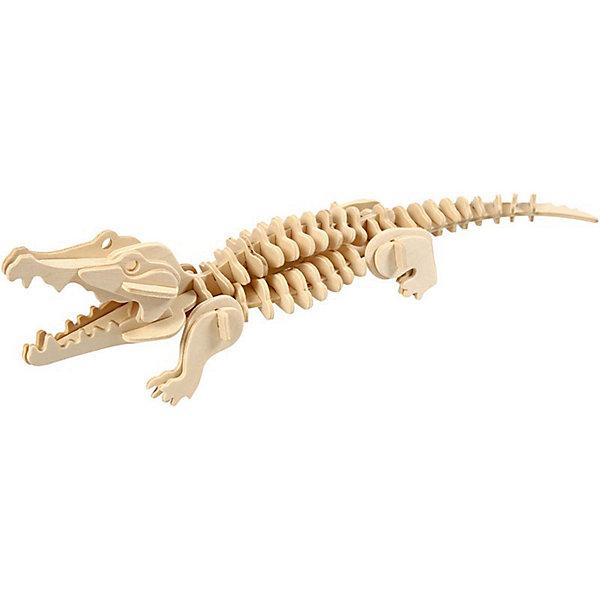 Крокодил (серия М), Мир деревянных игрушекДеревянные модели<br>Развивать свои способности ребенок может, сам собирая деревянные фигуры! Специально для любящих творчество и интересующихся животным миром были разработаны эти 3D-пазлы. Из них получаются красивые очень реалистичные фигуры, которые могут стать украшением комнаты. Для этого нужно выдавить из пластины с деталями элементы для сборки и соединить их. <br>Собирая их, ребенок будет учиться соотносить фигуры, развивать пространственное мышление, память и мелкую моторику. А раскрашивая готовое произведение, дети научатся подбирать цвета и будут развивать художественные навыки. Этот набор произведен из качественных и безопасных для детей материалов - дерево тщательно обработано.<br><br>Дополнительная информация:<br><br>материал: дерево;<br>цвет: бежевый;<br>элементы: пластины с деталями для сборки;<br>размер упаковки: 23 х 18 см.<br><br>3D-пазл Крокодил (серия М) от бренда Мир деревянных игрушек можно купить в нашем магазине.<br>Ширина мм: 225; Глубина мм: 30; Высота мм: 180; Вес г: 450; Возраст от месяцев: 36; Возраст до месяцев: 144; Пол: Унисекс; Возраст: Детский; SKU: 4969068;