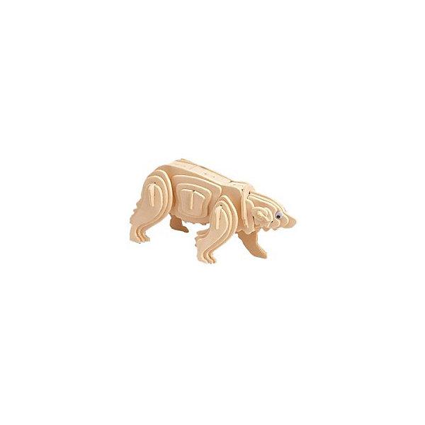 Белый медведь, Мир деревянных игрушекДеревянные модели<br>Удачный вариант подарка для творческого ребенка - этот набор, из которого можно самому сделать красивую деревянную фигуру! Для этого нужно выдавить из пластины с деталями элементы для сборки и соединить их. Из наборов получаются красивые очень реалистичные игрушки, которые могут стать украшением комнаты.<br>Собирая их, ребенок будет учиться соотносить фигуры, развивать пространственное мышление, память и мелкую моторику. А раскрашивая готовое произведение, дети научатся подбирать цвета и будут развивать художественные навыки. Этот набор произведен из качественных и безопасных для детей материалов - дерево тщательно обработано.<br><br>Дополнительная информация:<br><br>материал: дерево;<br>цвет: бежевый;<br>элементы: пластины с деталями для сборки;<br>размер упаковки: 23 х 18 см.<br><br>3D-пазл Белый медведь от бренда Мир деревянных игрушек можно купить в нашем магазине.<br>Ширина мм: 225; Глубина мм: 30; Высота мм: 180; Вес г: 450; Возраст от месяцев: 36; Возраст до месяцев: 144; Пол: Унисекс; Возраст: Детский; SKU: 4969070;