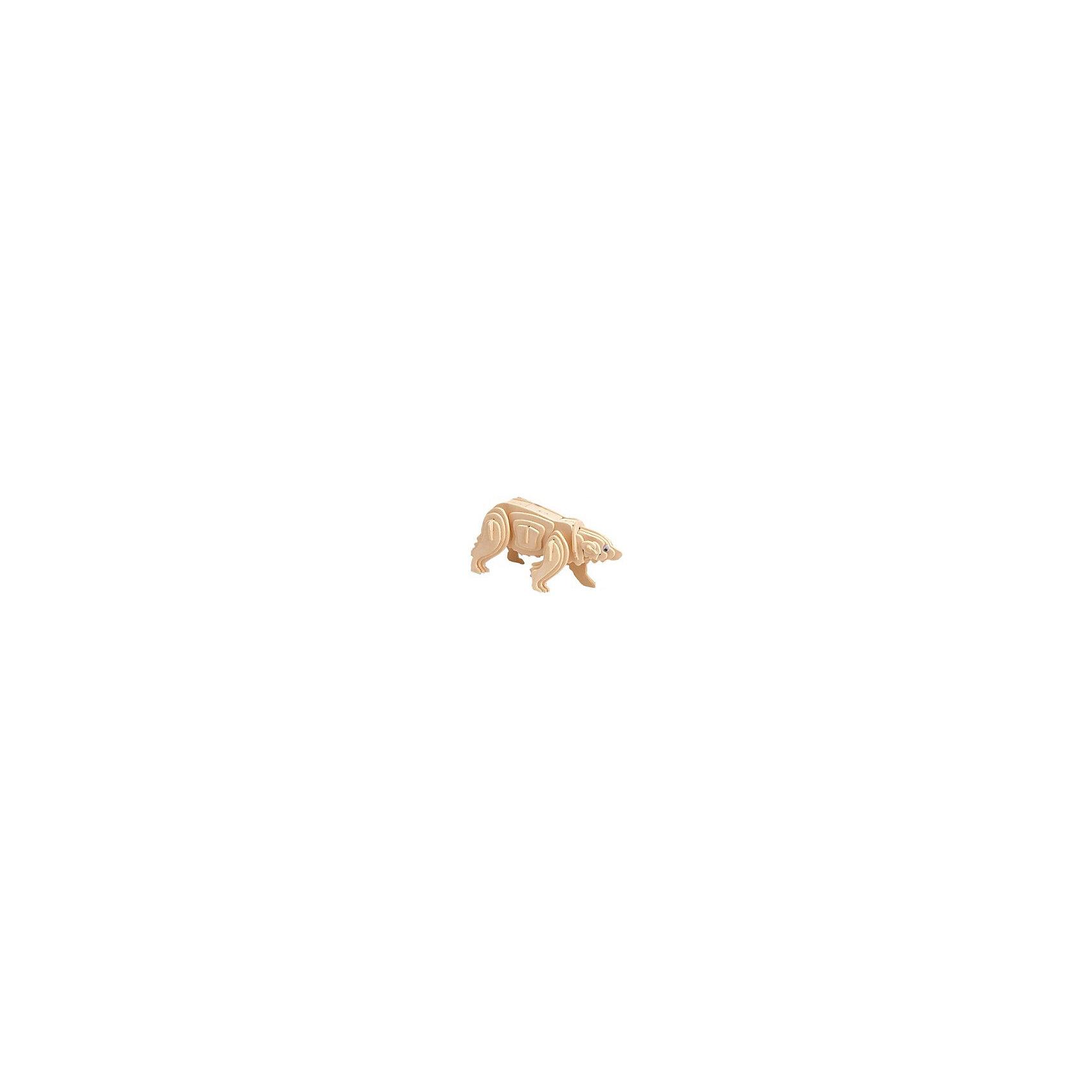 Белый медведь, Мир деревянных игрушекУдачный вариант подарка для творческого ребенка - этот набор, из которого можно самому сделать красивую деревянную фигуру! Для этого нужно выдавить из пластины с деталями элементы для сборки и соединить их. Из наборов получаются красивые очень реалистичные игрушки, которые могут стать украшением комнаты.<br>Собирая их, ребенок будет учиться соотносить фигуры, развивать пространственное мышление, память и мелкую моторику. А раскрашивая готовое произведение, дети научатся подбирать цвета и будут развивать художественные навыки. Этот набор произведен из качественных и безопасных для детей материалов - дерево тщательно обработано.<br><br>Дополнительная информация:<br><br>материал: дерево;<br>цвет: бежевый;<br>элементы: пластины с деталями для сборки;<br>размер упаковки: 23 х 18 см.<br><br>3D-пазл Белый медведь от бренда Мир деревянных игрушек можно купить в нашем магазине.<br><br>Ширина мм: 225<br>Глубина мм: 30<br>Высота мм: 180<br>Вес г: 450<br>Возраст от месяцев: 36<br>Возраст до месяцев: 144<br>Пол: Унисекс<br>Возраст: Детский<br>SKU: 4969070