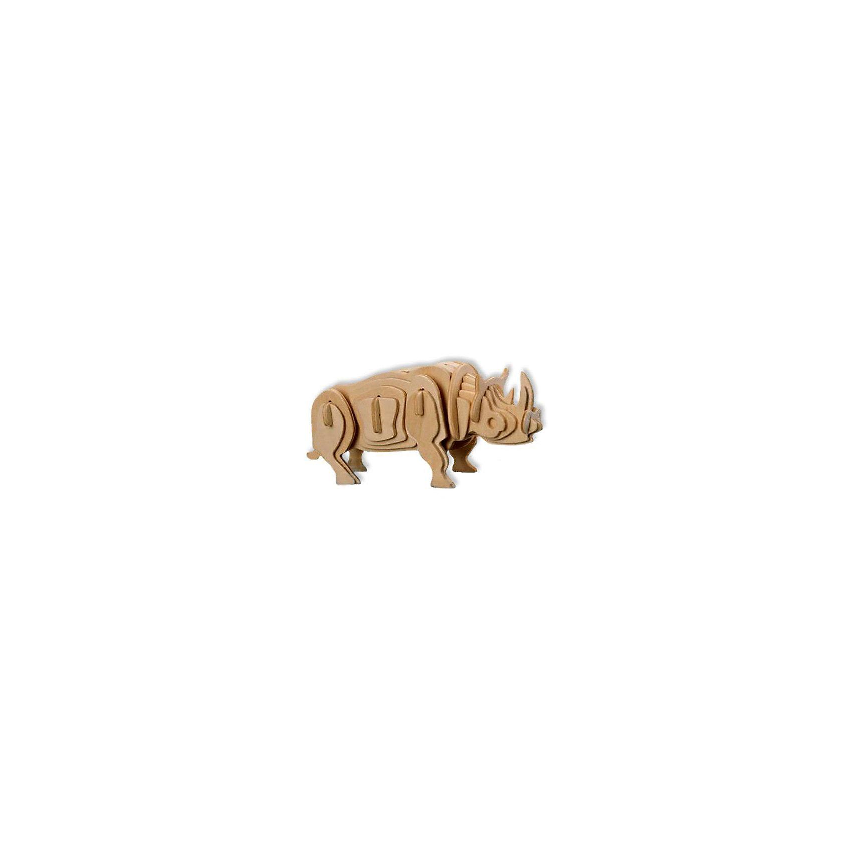 Белый носорог, Мир деревянных игрушекДеревянные модели<br>Развивать свои способности ребенок может, сам собирая деревянные фигуры! Специально для любящих творчество и интересующихся животным миром были разработаны эти 3D-пазлы. Из них получаются красивые очень реалистичные фигуры, которые могут стать украшением комнаты. Для этого нужно выдавить из пластины с деталями элементы для сборки и соединить их. <br>Собирая их, ребенок будет учиться соотносить фигуры, развивать пространственное мышление, память и мелкую моторику. А раскрашивая готовое произведение, дети научатся подбирать цвета и будут развивать художественные навыки. Этот набор произведен из качественных и безопасных для детей материалов - дерево тщательно обработано.<br><br>Дополнительная информация:<br><br>материал: дерево;<br>цвет: бежевый;<br>элементы: пластины с деталями для сборки;<br>размер упаковки: 23 х 18 см.<br><br>3D-пазл Белый носорог от бренда Мир деревянных игрушек можно купить в нашем магазине.<br><br>Ширина мм: 225<br>Глубина мм: 30<br>Высота мм: 180<br>Вес г: 450<br>Возраст от месяцев: 36<br>Возраст до месяцев: 144<br>Пол: Унисекс<br>Возраст: Детский<br>SKU: 4969071