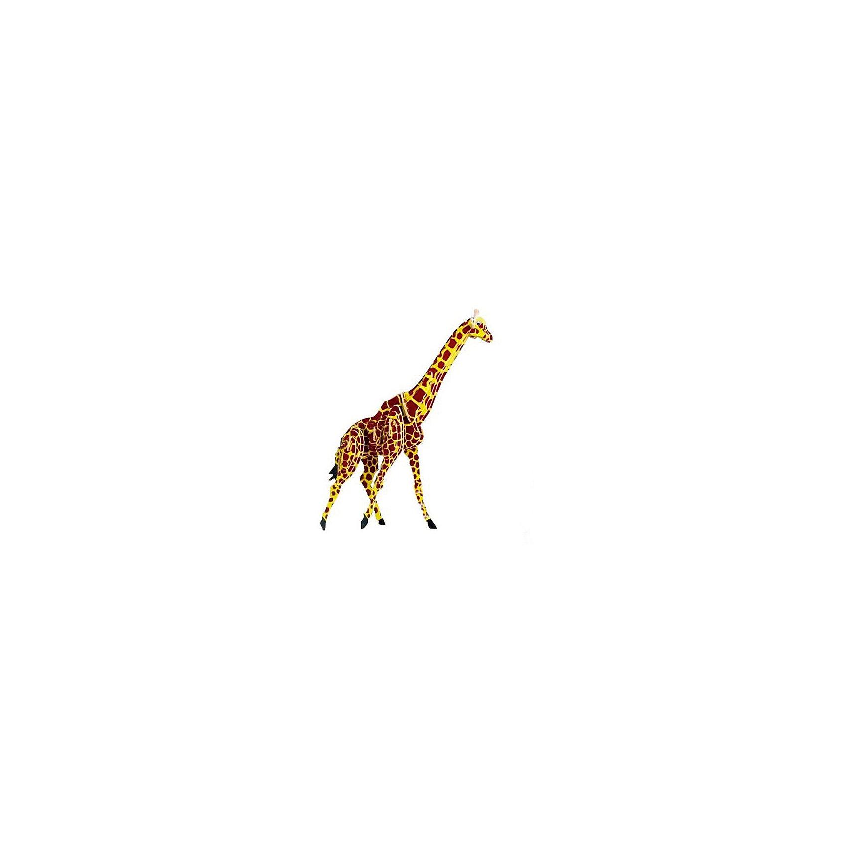 Жираф (серия М), Мир деревянных игрушекДеревянные конструкторы<br>Развивать свои способности ребенок может, сам собирая деревянные фигуры! Специально для любящих творчество и интересующихся животным миром были разработаны эти 3D-пазлы. Из них получаются красивые очень реалистичные фигуры, которые могут стать украшением комнаты. Для этого нужно выдавить из пластины с деталями элементы для сборки и соединить их. <br>Собирая их, ребенок будет учиться соотносить фигуры, развивать пространственное мышление, память и мелкую моторику. А раскрашивая готовое произведение, дети научатся подбирать цвета и будут развивать художественные навыки. Этот набор произведен из качественных и безопасных для детей материалов - дерево тщательно обработано.<br><br>Дополнительная информация:<br><br>материал: дерево;<br>цвет: бежевый;<br>элементы: пластины с деталями для сборки;<br>размер упаковки: 23 х 18 см.<br><br>3D-пазл Жираф (серия М) от бренда Мир деревянных игрушек можно купить в нашем магазине.<br><br>Ширина мм: 225<br>Глубина мм: 30<br>Высота мм: 180<br>Вес г: 450<br>Возраст от месяцев: 36<br>Возраст до месяцев: 144<br>Пол: Унисекс<br>Возраст: Детский<br>SKU: 4969073