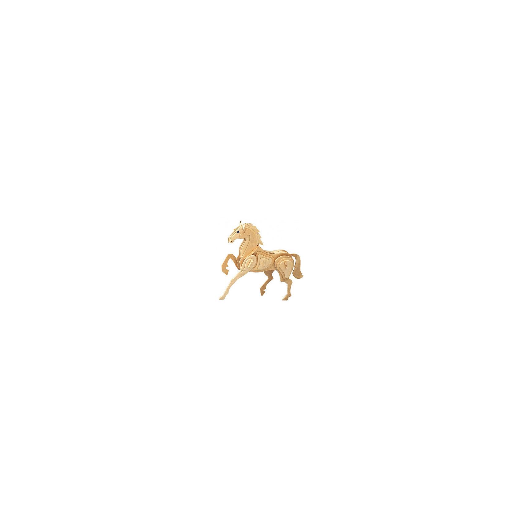 Лошадь (серия М), Мир деревянных игрушекДеревянные модели<br>Отличный вариант подарка для творческого ребенка - этот набор, из которого можно самому сделать красивую деревянную фигуру! Для этого нужно выдавить из пластины с деталями элементы для сборки и соединить их. Из наборов получаются красивые очень реалистичные игрушки, которые могут стать украшением комнаты.<br>Собирая их, ребенок будет учиться соотносить фигуры, развивать пространственное мышление, память и мелкую моторику. А раскрашивая готовое произведение, дети научатся подбирать цвета и будут развивать художественные навыки. Этот набор произведен из качественных и безопасных для детей материалов - дерево тщательно обработано.<br><br>Дополнительная информация:<br><br>материал: дерево;<br>цвет: бежевый;<br>элементы: пластины с деталями для сборки;<br>размер упаковки: 23 х 18 см.<br><br>3D-пазл Лошадь (серия М) от бренда Мир деревянных игрушек можно купить в нашем магазине.<br><br>Ширина мм: 225<br>Глубина мм: 30<br>Высота мм: 180<br>Вес г: 350<br>Возраст от месяцев: 36<br>Возраст до месяцев: 144<br>Пол: Унисекс<br>Возраст: Детский<br>SKU: 4969075