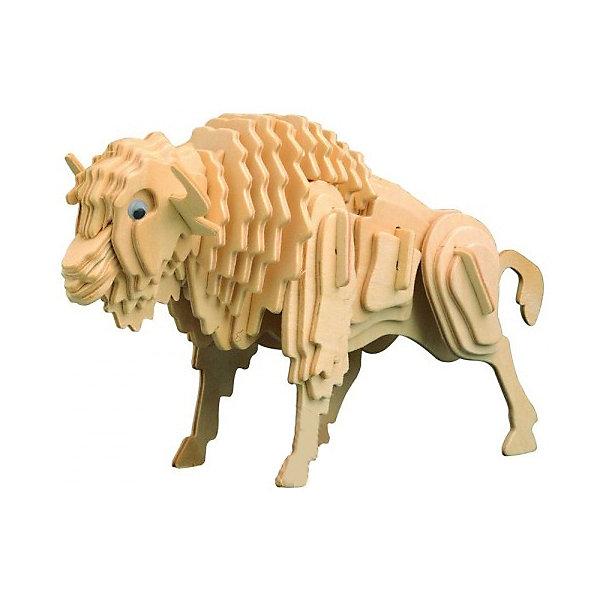 Бизон, Мир деревянных игрушекДеревянные модели<br>Развивать свои способности ребенок может, сам собирая деревянные фигуры! Специально для любящих творчество и интересующихся животным миром были разработаны эти 3D-пазлы. Из них получаются красивые очень реалистичные фигуры, которые могут стать украшением комнаты. Для этого нужно выдавить из пластины с деталями элементы для сборки и соединить их. <br>Собирая их, ребенок будет учиться соотносить фигуры, развивать пространственное мышление, память и мелкую моторику. А раскрашивая готовое произведение, дети научатся подбирать цвета и будут развивать художественные навыки. Этот набор произведен из качественных и безопасных для детей материалов - дерево тщательно обработано.<br><br>Дополнительная информация:<br><br>материал: дерево;<br>цвет: бежевый;<br>элементы: пластины с деталями для сборки;<br>размер упаковки: 23 х 18 см.<br><br>3D-пазл Бизон от бренда Мир деревянных игрушек можно купить в нашем магазине.<br>Ширина мм: 225; Глубина мм: 30; Высота мм: 180; Вес г: 450; Возраст от месяцев: 36; Возраст до месяцев: 144; Пол: Унисекс; Возраст: Детский; SKU: 4969079;