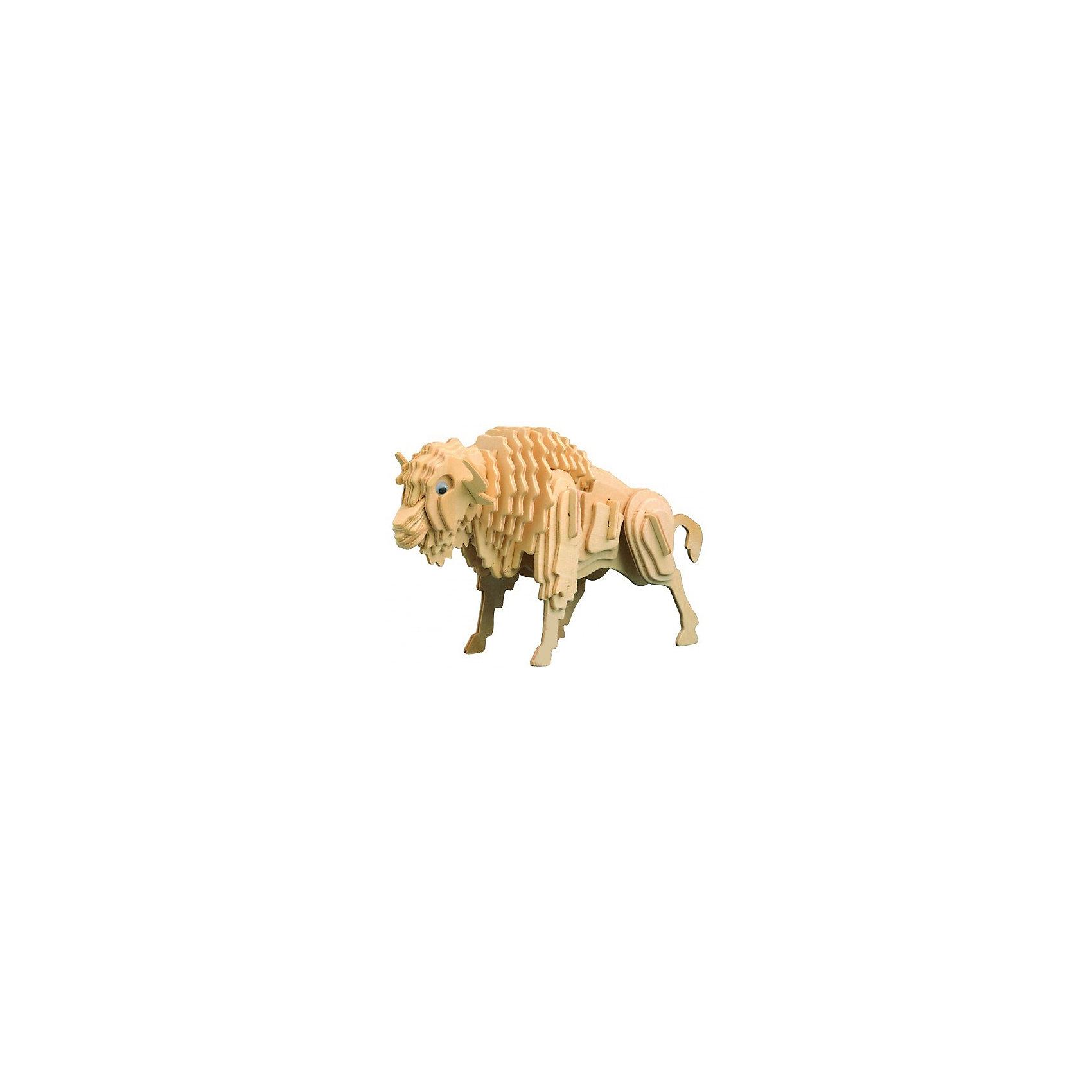 Бизон, Мир деревянных игрушекРазвивать свои способности ребенок может, сам собирая деревянные фигуры! Специально для любящих творчество и интересующихся животным миром были разработаны эти 3D-пазлы. Из них получаются красивые очень реалистичные фигуры, которые могут стать украшением комнаты. Для этого нужно выдавить из пластины с деталями элементы для сборки и соединить их. <br>Собирая их, ребенок будет учиться соотносить фигуры, развивать пространственное мышление, память и мелкую моторику. А раскрашивая готовое произведение, дети научатся подбирать цвета и будут развивать художественные навыки. Этот набор произведен из качественных и безопасных для детей материалов - дерево тщательно обработано.<br><br>Дополнительная информация:<br><br>материал: дерево;<br>цвет: бежевый;<br>элементы: пластины с деталями для сборки;<br>размер упаковки: 23 х 18 см.<br><br>3D-пазл Бизон от бренда Мир деревянных игрушек можно купить в нашем магазине.<br><br>Ширина мм: 225<br>Глубина мм: 30<br>Высота мм: 180<br>Вес г: 450<br>Возраст от месяцев: 36<br>Возраст до месяцев: 144<br>Пол: Унисекс<br>Возраст: Детский<br>SKU: 4969079