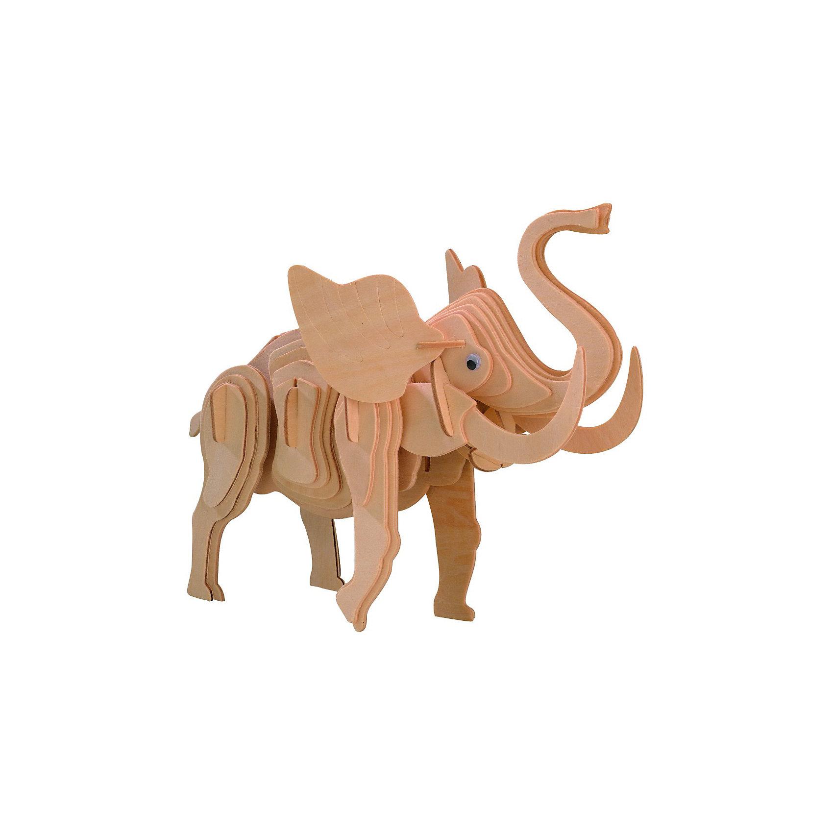 Маленький слон, Мир деревянных игрушекОтличный вариант подарка для творческого ребенка - этот набор, из которого можно самому сделать красивую деревянную фигуру! Для этого нужно выдавить из пластины с деталями элементы для сборки и соединить их. Из наборов получаются красивые очень реалистичные игрушки, которые могут стать украшением комнаты.<br>Собирая их, ребенок будет учиться соотносить фигуры, развивать пространственное мышление, память и мелкую моторику. А раскрашивая готовое произведение, дети научатся подбирать цвета и будут развивать художественные навыки. Этот набор произведен из качественных и безопасных для детей материалов - дерево тщательно обработано.<br><br>Дополнительная информация:<br><br>материал: дерево;<br>цвет: бежевый;<br>элементы: пластины с деталями для сборки;<br>размер упаковки: 23 х 18 см.<br><br>3D-пазл Маленький слон от бренда Мир деревянных игрушек можно купить в нашем магазине.<br><br>Ширина мм: 225<br>Глубина мм: 30<br>Высота мм: 180<br>Вес г: 450<br>Возраст от месяцев: 36<br>Возраст до месяцев: 144<br>Пол: Унисекс<br>Возраст: Детский<br>SKU: 4969080