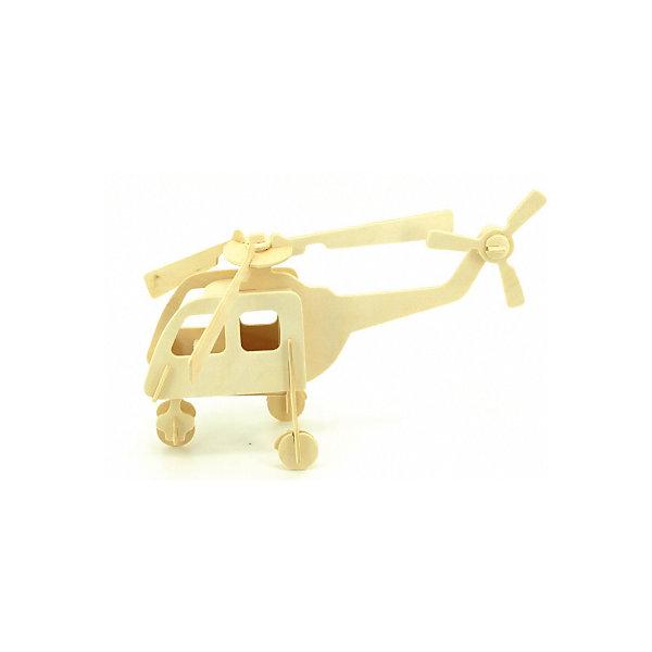 Вертолет (серия П), Мир деревянных игрушекДеревянные модели<br>Отличный вариант подарка для любящего технику творческого ребенка - этот набор, из которого можно самому сделать красивую деревянную фигуру! Для этого нужно выдавить из пластины с деталями элементы для сборки и соединить их. Из наборов получаются красивые очень реалистичные игрушки, которые могут стать украшением комнаты.<br>Собирая их, ребенок будет развивать пространственное мышление, память и мелкую моторику. А раскрашивая готовое произведение, дети научатся подбирать цвета и будут развивать художественные навыки. Этот набор произведен из качественных и безопасных для детей материалов - дерево тщательно обработано.<br><br>Дополнительная информация:<br><br>материал: дерево;<br>цвет: бежевый;<br>элементы: пластины с деталями для сборки, схема сборки;<br>размер упаковки: 23 х 18 см.<br><br>3D-пазл Вертолет (серия П) от бренда Мир деревянных игрушек можно купить в нашем магазине.<br><br>Ширина мм: 225<br>Глубина мм: 30<br>Высота мм: 180<br>Вес г: 450<br>Возраст от месяцев: 36<br>Возраст до месяцев: 144<br>Пол: Унисекс<br>Возраст: Детский<br>SKU: 4969086