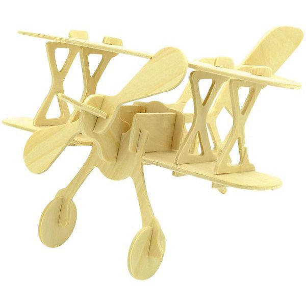 Аэроплан, Мир деревянных игрушекДеревянные модели<br>Порадовать любящего технику творческого ребенка - легко! Подарите ему этот набор, из которого можно самому сделать красивую деревянную фигуру. Для этого нужно выдавить из пластины с деталями элементы для сборки и соединить их. Из наборов получаются красивые очень реалистичные игрушки, которые могут стать украшением комнаты.<br>Собирая их, ребенок будет развивать пространственное мышление, память и мелкую моторику. А раскрашивая готовое произведение, дети научатся подбирать цвета и будут развивать художественные навыки. Этот набор произведен из качественных и безопасных для детей материалов - дерево тщательно обработано.<br><br>Дополнительная информация:<br><br>материал: дерево;<br>цвет: бежевый;<br>элементы: пластины с деталями для сборки, схема сборки;<br>размер упаковки: 23 х 18 см.<br><br>3D-пазл Аэроплан от бренда Мир деревянных игрушек можно купить в нашем магазине.<br>Ширина мм: 225; Глубина мм: 30; Высота мм: 180; Вес г: 350; Возраст от месяцев: 36; Возраст до месяцев: 144; Пол: Унисекс; Возраст: Детский; SKU: 4969087;