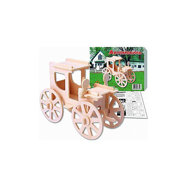 Автомобиль (серия П), Мир деревянных игрушекДеревянные модели<br>Отличный вариант подарка для любящего технику творческого ребенка - этот набор, из которого можно самому сделать красивую деревянную фигуру! Для этого нужно выдавить из пластины с деталями элементы для сборки и соединить их. Из наборов получаются красивые очень реалистичные игрушки, которые могут стать украшением комнаты.<br>Собирая их, ребенок будет развивать пространственное мышление, память и мелкую моторику. А раскрашивая готовое произведение, дети научатся подбирать цвета и будут развивать художественные навыки. Этот набор произведен из качественных и безопасных для детей материалов - дерево тщательно обработано.<br><br>Дополнительная информация:<br><br>материал: дерево;<br>цвет: бежевый;<br>элементы: пластины с деталями для сборки, схема сборки;<br>размер упаковки: 23 х 18 см.<br><br>3D-пазл Автомобиль (серия П) от бренда Мир деревянных игрушек можно купить в нашем магазине.<br>Ширина мм: 225; Глубина мм: 30; Высота мм: 180; Вес г: 450; Возраст от месяцев: 36; Возраст до месяцев: 144; Пол: Унисекс; Возраст: Детский; SKU: 4969089;