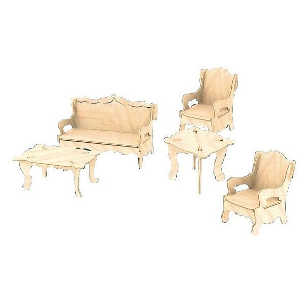 Мебель, Мир деревянных игрушекДеревянные модели<br>Оригинальный вариант подарка для творческого ребенка - этот набор, из которого можно самому сделать красивую деревянную фигуру! Для этого нужно выдавить из пластины с деталями элементы для сборки и соединить их. Из наборов получаются красивые очень реалистичные игрушки, которые могут стать украшением комнаты или участвовать в играх с куклами.<br>Собирая их, ребенок будет развивать пространственное мышление, память и мелкую моторику. А раскрашивая готовое произведение, дети научатся подбирать цвета и будут развивать художественные навыки. Этот набор произведен из качественных и безопасных для детей материалов - дерево тщательно обработано.<br><br>Дополнительная информация:<br><br>материал: дерево;<br>цвет: бежевый;<br>элементы: пластины с деталями для сборки, схема сборки;<br>размер упаковки: 23 х 18 см.<br><br>3D-пазл Мебель от бренда Мир деревянных игрушек можно купить в нашем магазине.<br><br>Ширина мм: 225<br>Глубина мм: 30<br>Высота мм: 180<br>Вес г: 450<br>Возраст от месяцев: 36<br>Возраст до месяцев: 144<br>Пол: Унисекс<br>Возраст: Детский<br>SKU: 4969093