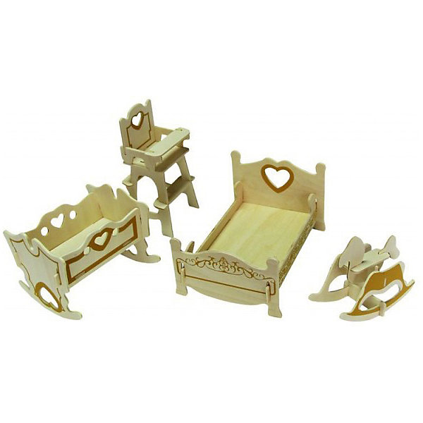 Детская спальня, Мир деревянных игрушекДеревянные модели<br>Удачный способ порадовать творческого ребенка - этот набор, из которого можно самому сделать красивую деревянную фигуру! Для этого нужно выдавить из пластины с деталями элементы для сборки и соединить их. Из наборов получаются красивые очень реалистичные игрушки, которые могут стать украшением комнаты или участвовать в играх с куклами.<br>Собирая их, ребенок будет развивать пространственное мышление, память и мелкую моторику. А раскрашивая готовое произведение, дети научатся подбирать цвета и будут развивать художественные навыки. Этот набор произведен из качественных и безопасных для детей материалов - дерево тщательно обработано.<br><br>Дополнительная информация:<br><br>материал: дерево;<br>цвет: бежевый;<br>элементы: пластины с деталями для сборки, схема сборки;<br>высота предметов: 5-7 см;<br>размер упаковки: 23 х 18 см.<br><br>3D-пазл Детская спальня от бренда Мир деревянных игрушек можно купить в нашем магазине.<br><br>Ширина мм: 225<br>Глубина мм: 30<br>Высота мм: 180<br>Вес г: 450<br>Возраст от месяцев: 36<br>Возраст до месяцев: 144<br>Пол: Унисекс<br>Возраст: Детский<br>SKU: 4969095