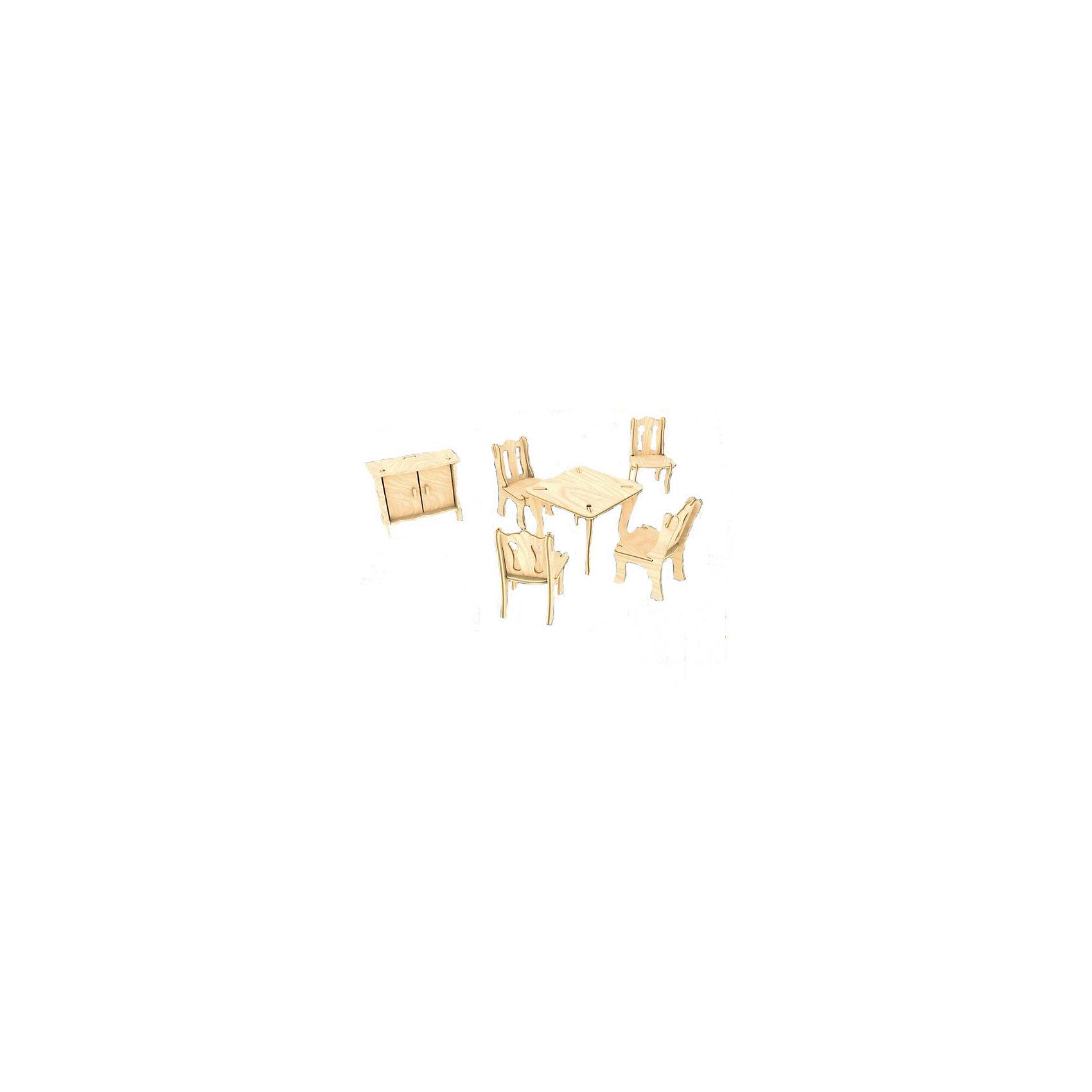 Гостиная, Мир деревянных игрушекДеревянные модели<br>Удачный способ порадовать творческого ребенка - этот набор, из которого можно самому сделать красивую деревянную фигуру! Для этого нужно выдавить из пластины с деталями элементы для сборки и соединить их. Из наборов получаются красивые очень реалистичные игрушки, которые могут стать украшением комнаты или участвовать в играх с куклами.<br>Собирая их, ребенок будет развивать пространственное мышление, память и мелкую моторику. А раскрашивая готовое произведение, дети научатся подбирать цвета и будут развивать художественные навыки. Этот набор произведен из качественных и безопасных для детей материалов - дерево тщательно обработано.<br><br>Дополнительная информация:<br><br>материал: дерево;<br>цвет: бежевый;<br>элементы: пластины с деталями для сборки, схема сборки;<br>высота предметов: 8 см;<br>размер упаковки: 23 х 18 см.<br><br>3D-пазл Гостиная от бренда Мир деревянных игрушек можно купить в нашем магазине.<br><br>Ширина мм: 225<br>Глубина мм: 30<br>Высота мм: 180<br>Вес г: 450<br>Возраст от месяцев: 36<br>Возраст до месяцев: 144<br>Пол: Унисекс<br>Возраст: Детский<br>SKU: 4969096