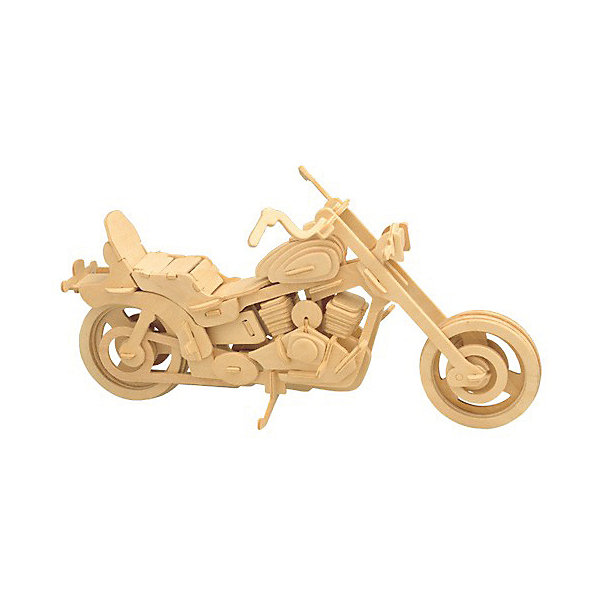 Байкерский мотоцикл, Мир деревянных игрушекДеревянные модели<br>Отличный вариант подарка для любящего технику творческого ребенка - этот набор, из которого можно самому сделать красивую деревянную фигуру! Для этого нужно выдавить из пластины с деталями элементы для сборки и соединить их. Из наборов получаются красивые очень реалистичные игрушки, которые могут стать украшением комнаты.<br>Собирая их, ребенок будет развивать пространственное мышление, память и мелкую моторику. А раскрашивая готовое произведение, дети научатся подбирать цвета и будут развивать художественные навыки. Этот набор произведен из качественных и безопасных для детей материалов - дерево тщательно обработано.<br><br>Дополнительная информация:<br><br>материал: дерево;<br>цвет: бежевый;<br>элементы: пластины с деталями для сборки, схема сборки;<br>размер упаковки: 23 х 37 см.<br><br>3D-пазл Байкерский мотоцикл от бренда Мир деревянных игрушек можно купить в нашем магазине.<br>Ширина мм: 350; Глубина мм: 50; Высота мм: 225; Вес г: 450; Возраст от месяцев: 36; Возраст до месяцев: 144; Пол: Унисекс; Возраст: Детский; SKU: 4969104;