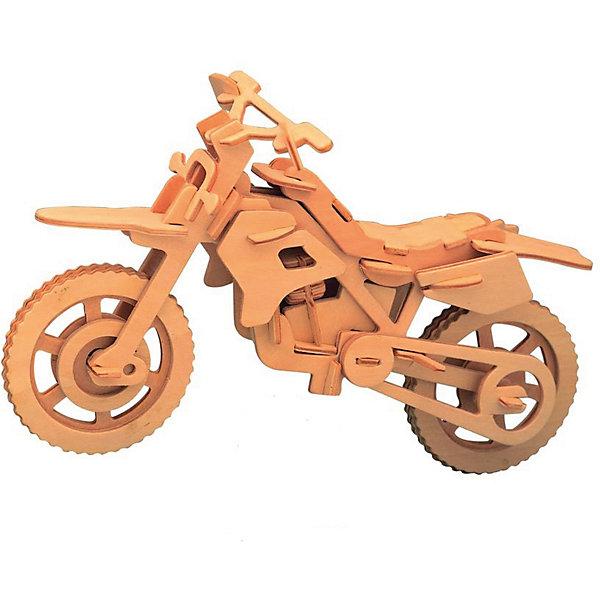 Гоночный мотоцикл, Мир деревянных игрушекДеревянные модели<br>Отличный вариант подарка для любящего технику творческого ребенка - этот набор, из которого можно самому сделать красивую деревянную фигуру! Для этого нужно выдавить из пластины с деталями элементы для сборки и соединить их. Из наборов получаются красивые очень реалистичные игрушки, которые могут стать украшением комнаты.<br>Собирая их, ребенок будет развивать пространственное мышление, память и мелкую моторику. А раскрашивая готовое произведение, дети научатся подбирать цвета и будут развивать художественные навыки. Этот набор произведен из качественных и безопасных для детей материалов - дерево тщательно обработано.<br><br>Дополнительная информация:<br><br>материал: дерево;<br>цвет: бежевый;<br>элементы: пластины с деталями для сборки, схема сборки;<br>размер упаковки: 23 х 18 см.<br><br>3D-пазл Гоночный мотоцикл от бренда Мир деревянных игрушек можно купить в нашем магазине.<br>Ширина мм: 350; Глубина мм: 50; Высота мм: 225; Вес г: 450; Возраст от месяцев: 36; Возраст до месяцев: 144; Пол: Мужской; Возраст: Детский; SKU: 4969108;
