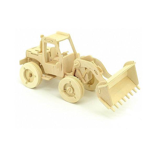 Бульдозер, Мир деревянных игрушекДеревянные модели<br>Отличный вариант подарка для любящего технику творческого ребенка - этот набор, из которого можно самому сделать красивую деревянную фигуру! Для этого нужно выдавить из пластины с деталями элементы для сборки и соединить их. Из наборов получаются красивые очень реалистичные игрушки, которые могут стать украшением комнаты.<br>Собирая их, ребенок будет развивать пространственное мышление, память и мелкую моторику. А раскрашивая готовое произведение, дети научатся подбирать цвета и будут развивать художественные навыки. Этот набор произведен из качественных и безопасных для детей материалов - дерево тщательно обработано.<br><br>Дополнительная информация:<br><br>материал: дерево;<br>цвет: бежевый;<br>элементы: пластины с деталями для сборки, схема сборки;<br>размер упаковки: 23 х 37 см.<br><br>3D-пазл Бульдозер от бренда Мир деревянных игрушек можно купить в нашем магазине.<br><br>Ширина мм: 350<br>Глубина мм: 50<br>Высота мм: 225<br>Вес г: 350<br>Возраст от месяцев: 36<br>Возраст до месяцев: 144<br>Пол: Мужской<br>Возраст: Детский<br>SKU: 4969114