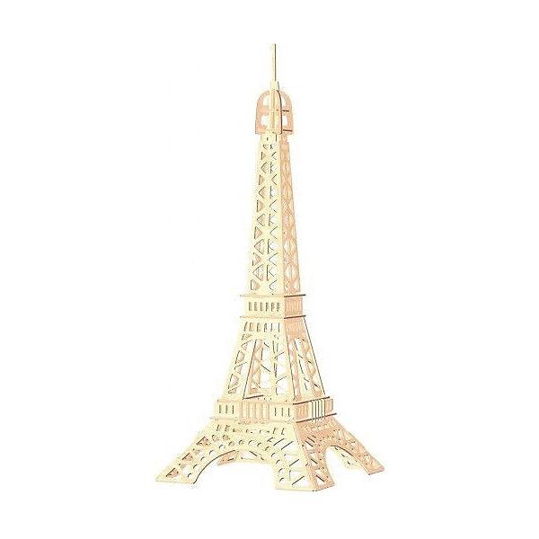 Эйфелева башня, Мир деревянных игрушекДеревянные модели<br>Порадовать любящего архитектуру творческого ребенка - легко! Подарите ему этот набор, из которого можно самому сделать красивую деревянную фигуру. Для этого нужно выдавить из пластины с деталями элементы для сборки и соединить их. Из наборов получаются красивые очень реалистичные игрушки, которые могут стать украшением комнаты.<br>Собирая их, ребенок будет развивать пространственное мышление, память и мелкую моторику. А раскрашивая готовое произведение, дети научатся подбирать цвета и будут развивать художественные навыки. Этот набор произведен из качественных и безопасных для детей материалов - дерево тщательно обработано.<br><br>Дополнительная информация:<br><br>материал: дерево;<br>цвет: бежевый;<br>элементы: пластины с деталями для сборки, схема сборки;<br>размер упаковки: 23 х 37 см.<br><br>3D-пазл Эйфелева башня от бренда Мир деревянных игрушек можно купить в нашем магазине.<br><br>Ширина мм: 350<br>Глубина мм: 50<br>Высота мм: 225<br>Вес г: 350<br>Возраст от месяцев: 36<br>Возраст до месяцев: 144<br>Пол: Унисекс<br>Возраст: Детский<br>SKU: 4969115