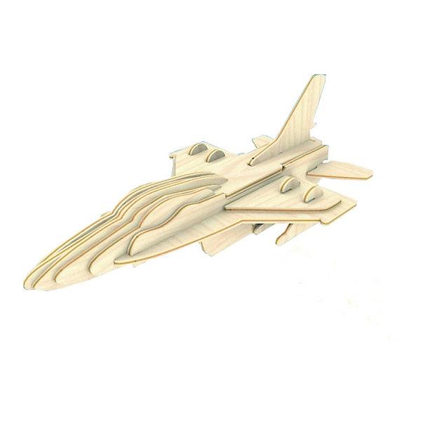 Самолет F16, Мир деревянных игрушекДеревянные модели<br>Порадовать любящего технику творческого ребенка - легко! Подарите ему этот набор, из которого можно самому сделать красивую деревянную фигуру. Для этого нужно выдавить из пластины с деталями элементы для сборки и соединить их. Из наборов получаются красивые очень реалистичные игрушки, которые могут стать украшением комнаты.<br>Собирая их, ребенок будет развивать пространственное мышление, память и мелкую моторику. А раскрашивая готовое произведение, дети научатся подбирать цвета и будут развивать художественные навыки. Этот набор произведен из качественных и безопасных для детей материалов - дерево тщательно обработано.<br><br>Дополнительная информация:<br><br>материал: дерево;<br>цвет: бежевый;<br>элементы: пластины с деталями для сборки, схема сборки;<br>размер упаковки: 23 х 18 см.<br><br>3D-пазл Самолет F16 от бренда Мир деревянных игрушек можно купить в нашем магазине.<br><br>Ширина мм: 225<br>Глубина мм: 30<br>Высота мм: 180<br>Вес г: 450<br>Возраст от месяцев: 36<br>Возраст до месяцев: 144<br>Пол: Унисекс<br>Возраст: Детский<br>SKU: 4969127
