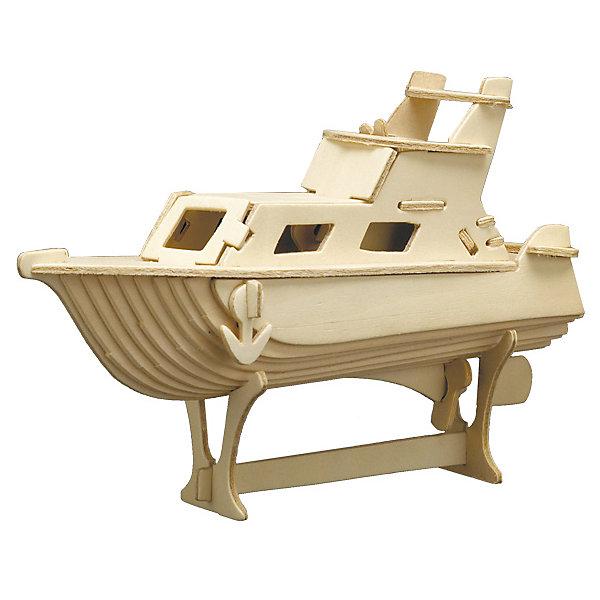 Яхта, Мир деревянных игрушекДеревянные модели<br>Отличный вариант подарка для любящего технику творческого ребенка - этот набор, из которого можно самому сделать красивую деревянную фигуру! Для этого нужно выдавить из пластины с деталями элементы для сборки и соединить их. Из наборов получаются красивые очень реалистичные игрушки, которые могут стать украшением комнаты.<br>Собирая их, ребенок будет развивать пространственное мышление, память и мелкую моторику. А раскрашивая готовое произведение, дети научатся подбирать цвета и будут развивать художественные навыки. Этот набор произведен из качественных и безопасных для детей материалов - дерево тщательно обработано.<br><br>Дополнительная информация:<br><br>материал: дерево;<br>цвет: бежевый;<br>элементы: пластины с деталями для сборки, схема сборки;<br>размер упаковки: 23 х 37 см.<br><br>3D-пазл Яхта от бренда Мир деревянных игрушек можно купить в нашем магазине.<br>Ширина мм: 350; Глубина мм: 50; Высота мм: 225; Вес г: 450; Возраст от месяцев: 36; Возраст до месяцев: 144; Пол: Унисекс; Возраст: Детский; SKU: 4969128;