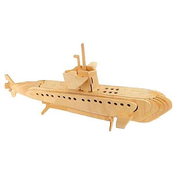 Субмарина, Мир деревянных игрушекДеревянные модели<br>Порадовать любящего технику творческого ребенка - легко! Подарите ему этот набор, из которого можно самому сделать красивую деревянную фигуру. Для этого нужно выдавить из пластины с деталями элементы для сборки и соединить их. Из наборов получаются красивые очень реалистичные игрушки, которые могут стать украшением комнаты.<br>Собирая их, ребенок будет развивать пространственное мышление, память и мелкую моторику. А раскрашивая готовое произведение, дети научатся подбирать цвета и будут развивать художественные навыки. Этот набор произведен из качественных и безопасных для детей материалов - дерево тщательно обработано.<br><br>Дополнительная информация:<br><br>материал: дерево;<br>цвет: бежевый;<br>элементы: пластины с деталями для сборки, схема сборки;<br>размер упаковки: 23 х 37 см.<br><br>3D-пазл Субмарина от бренда Мир деревянных игрушек можно купить в нашем магазине.<br>Ширина мм: 350; Глубина мм: 50; Высота мм: 225; Вес г: 450; Возраст от месяцев: 36; Возраст до месяцев: 144; Пол: Унисекс; Возраст: Детский; SKU: 4969129;