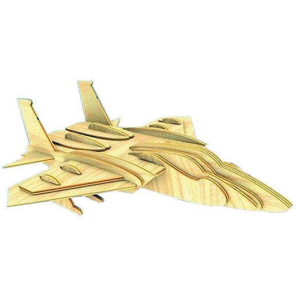 Самолет F15, Мир деревянных игрушекДеревянные модели<br>Отличный вариант подарка для любящего технику творческого ребенка - этот набор, из которого можно самому сделать красивую деревянную фигуру! Для этого нужно выдавить из пластины с деталями элементы для сборки и соединить их. Из наборов получаются красивые очень реалистичные игрушки, которые могут стать украшением комнаты.<br>Собирая их, ребенок будет развивать пространственное мышление, память и мелкую моторику. А раскрашивая готовое произведение, дети научатся подбирать цвета и будут развивать художественные навыки. Этот набор произведен из качественных и безопасных для детей материалов - дерево тщательно обработано.<br><br>Дополнительная информация:<br><br>материал: дерево;<br>цвет: бежевый;<br>элементы: пластины с деталями для сборки, схема сборки;<br>размер упаковки: 23 х 18 см.<br><br>3D-пазл Самолет F15 от бренда Мир деревянных игрушек можно купить в нашем магазине.<br><br>Ширина мм: 225<br>Глубина мм: 30<br>Высота мм: 180<br>Вес г: 450<br>Возраст от месяцев: 36<br>Возраст до месяцев: 144<br>Пол: Мужской<br>Возраст: Детский<br>SKU: 4969131
