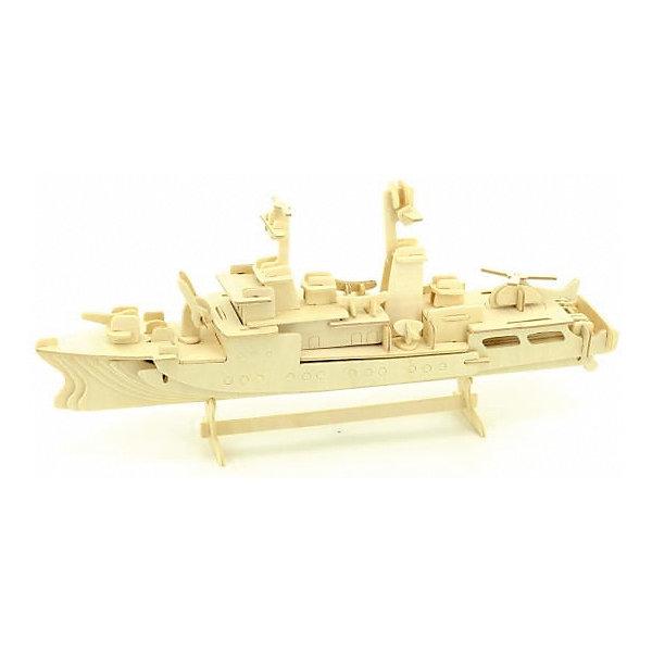 Сторожевик, Мир деревянных игрушекДеревянные модели<br>Порадовать любящего технику творческого ребенка - легко! Подарите ему этот набор, из которого можно самому сделать красивую деревянную фигуру. Для этого нужно выдавить из пластины с деталями элементы для сборки и соединить их. Из наборов получаются красивые очень реалистичные игрушки, которые могут стать украшением комнаты.<br>Собирая их, ребенок будет развивать пространственное мышление, память и мелкую моторику. А раскрашивая готовое произведение, дети научатся подбирать цвета и будут развивать художественные навыки. Этот набор произведен из качественных и безопасных для детей материалов - дерево тщательно обработано.<br><br>Дополнительная информация:<br><br>материал: дерево;<br>цвет: бежевый;<br>элементы: пластины с деталями для сборки, схема сборки;<br>размер упаковки: 23 х 37 см.<br><br>3D-пазл Сторожевик от бренда Мир деревянных игрушек можно купить в нашем магазине.<br>Ширина мм: 350; Глубина мм: 50; Высота мм: 225; Вес г: 450; Возраст от месяцев: 36; Возраст до месяцев: 144; Пол: Унисекс; Возраст: Детский; SKU: 4969133;
