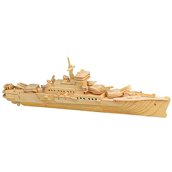 Крейсер, Мир деревянных игрушекДеревянные модели<br>Отличный вариант подарка для любящего военную технику творческого ребенка - этот набор, из которого можно самому сделать красивую деревянную фигуру! Для этого нужно выдавить из пластины с деталями элементы для сборки и соединить их. Из наборов получаются красивые очень реалистичные игрушки, которые могут стать украшением комнаты.<br>Собирая их, ребенок будет развивать пространственное мышление, память и мелкую моторику. А раскрашивая готовое произведение, дети научатся подбирать цвета и будут развивать художественные навыки. Этот набор произведен из качественных и безопасных для детей материалов - дерево тщательно обработано.<br><br>Дополнительная информация:<br><br>материал: дерево;<br>цвет: бежевый;<br>элементы: пластины с деталями для сборки, схема сборки;<br>размер упаковки: 23 х 37 см.<br><br>3D-пазл Крейсер от бренда Мир деревянных игрушек можно купить в нашем магазине.<br><br>Ширина мм: 350<br>Глубина мм: 50<br>Высота мм: 225<br>Вес г: 450<br>Возраст от месяцев: 36<br>Возраст до месяцев: 144<br>Пол: Унисекс<br>Возраст: Детский<br>SKU: 4969134