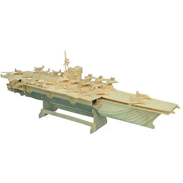 Авианосец, Мир деревянных игрушекДеревянные модели<br>Отличный вариант подарка для любящего военную технику творческого ребенка - этот набор, из которого можно самому сделать красивую деревянную фигуру! Для этого нужно выдавить из пластины с деталями элементы для сборки и соединить их. Из наборов получаются красивые очень реалистичные игрушки, которые могут стать украшением комнаты.<br>Собирая их, ребенок будет развивать пространственное мышление, память и мелкую моторику. А раскрашивая готовое произведение, дети научатся подбирать цвета и будут развивать художественные навыки. Этот набор произведен из качественных и безопасных для детей материалов - дерево тщательно обработано.<br><br>Дополнительная информация:<br><br>материал: дерево;<br>цвет: бежевый;<br>элементы: пластины с деталями для сборки, схема сборки;<br>размер упаковки: 23 х 18 см.<br><br>3D-пазл Авианосец от бренда Мир деревянных игрушек можно купить в нашем магазине.<br>Ширина мм: 350; Глубина мм: 50; Высота мм: 225; Вес г: 450; Возраст от месяцев: 36; Возраст до месяцев: 144; Пол: Унисекс; Возраст: Детский; SKU: 4969135;