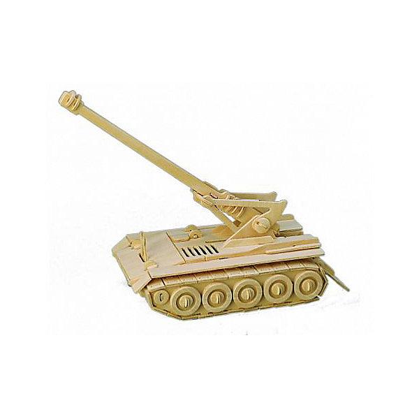Самоходная пушка, Мир деревянных игрушекДеревянные модели<br>Оригинальный вариант подарка для любящего военную технику творческого ребенка - этот набор, из которого можно самому сделать красивую деревянную фигуру! Для этого нужно выдавить из пластины с деталями элементы для сборки и соединить их. Из наборов получаются красивые очень реалистичные игрушки, которые могут стать украшением комнаты.<br>Собирая их, ребенок будет развивать пространственное мышление, память и мелкую моторику. А раскрашивая готовое произведение, дети научатся подбирать цвета и будут развивать художественные навыки. Этот набор произведен из качественных и безопасных для детей материалов - дерево тщательно обработано.<br><br>Дополнительная информация:<br><br>материал: дерево;<br>цвет: бежевый;<br>элементы: пластины с деталями для сборки, схема сборки;<br>размер упаковки: 23 х 37 см.<br><br>3D-пазл Самоходная пушка от бренда Мир деревянных игрушек можно купить в нашем магазине.<br>Ширина мм: 350; Глубина мм: 50; Высота мм: 225; Вес г: 450; Возраст от месяцев: 36; Возраст до месяцев: 144; Пол: Мужской; Возраст: Детский; SKU: 4969138;