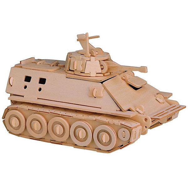 БМП, Мир деревянных игрушекДеревянные модели<br>Отличный вариант подарка для любящего военную технику творческого ребенка - этот набор, из которого можно самому сделать красивую деревянную фигуру! Для этого нужно выдавить из пластины с деталями элементы для сборки и соединить их. Из наборов получаются красивые очень реалистичные игрушки, которые могут стать украшением комнаты.<br>Собирая их, ребенок будет развивать пространственное мышление, память и мелкую моторику. А раскрашивая готовое произведение, дети научатся подбирать цвета и будут развивать художественные навыки. Этот набор произведен из качественных и безопасных для детей материалов - дерево тщательно обработано.<br><br>Дополнительная информация:<br><br>материал: дерево;<br>цвет: бежевый;<br>элементы: пластины с деталями для сборки, схема сборки;<br>размер упаковки: 23 х 37 см.<br><br>3D-пазл БМП от бренда Мир деревянных игрушек можно купить в нашем магазине.<br><br>Ширина мм: 350<br>Глубина мм: 50<br>Высота мм: 225<br>Вес г: 350<br>Возраст от месяцев: 36<br>Возраст до месяцев: 144<br>Пол: Мужской<br>Возраст: Детский<br>SKU: 4969140