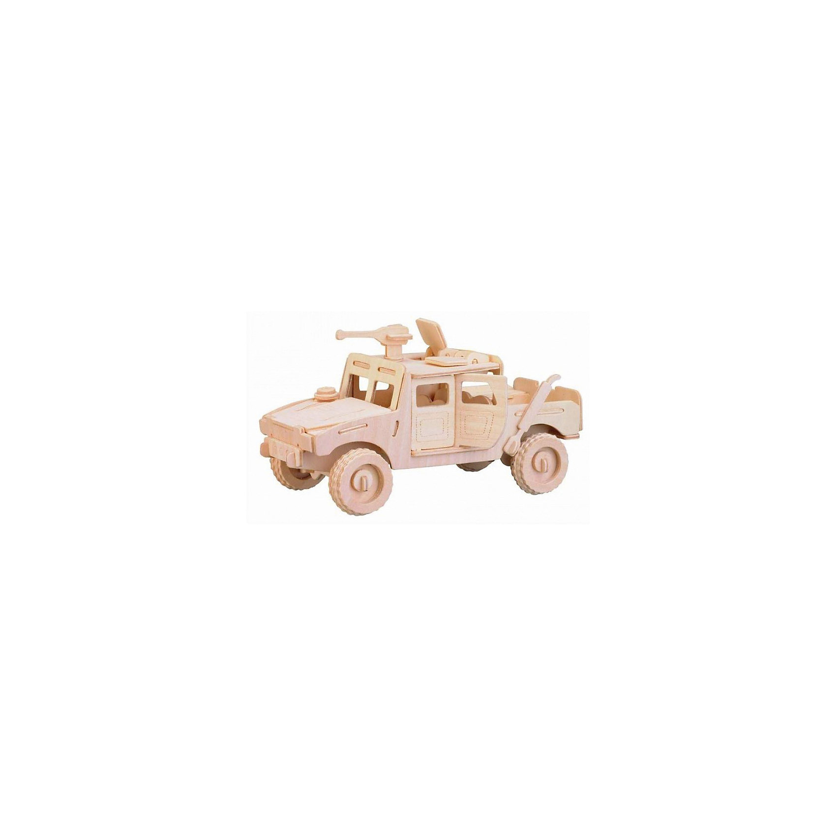Хаммер, Мир деревянных игрушекПорадовать любящего технику творческого ребенка - легко! Подарите ему этот набор, из которого можно самому сделать красивую деревянную фигуру. Для этого нужно выдавить из пластины с деталями элементы для сборки и соединить их. Из наборов получаются красивые очень реалистичные игрушки, которые могут стать украшением комнаты.<br>Собирая их, ребенок будет развивать пространственное мышление, память и мелкую моторику. А раскрашивая готовое произведение, дети научатся подбирать цвета и будут развивать художественные навыки. Этот набор произведен из качественных и безопасных для детей материалов - дерево тщательно обработано.<br><br>Дополнительная информация:<br><br>материал: дерево;<br>цвет: бежевый;<br>элементы: пластины с деталями для сборки, схема сборки;<br>размер упаковки: 23 х 37 см.<br><br>3D-пазл Хаммер от бренда Мир деревянных игрушек можно купить в нашем магазине.<br><br>Ширина мм: 350<br>Глубина мм: 50<br>Высота мм: 225<br>Вес г: 9999<br>Возраст от месяцев: 36<br>Возраст до месяцев: 144<br>Пол: Мужской<br>Возраст: Детский<br>SKU: 4969150