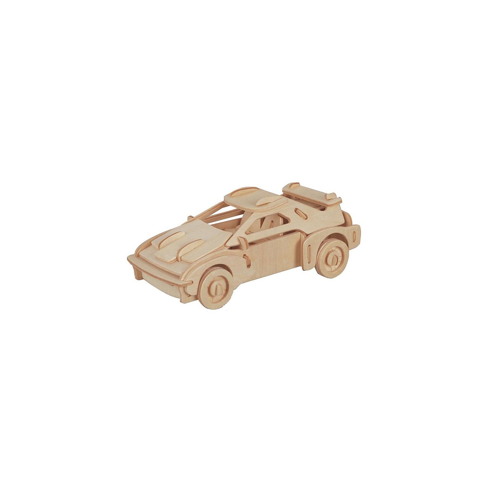 Феррари, Мир деревянных игрушекРукоделие<br>Порадовать любящего машины творческого ребенка - легко! Подарите ему этот набор, из которого можно самому сделать красивую деревянную фигуру. Для этого нужно выдавить из пластины с деталями элементы для сборки и соединить их. Из наборов получаются красивые очень реалистичные игрушки, которые могут стать украшением комнаты.<br>Собирая их, ребенок будет развивать пространственное мышление, память и мелкую моторику. А раскрашивая готовое произведение, дети научатся подбирать цвета и будут развивать художественные навыки. Этот набор произведен из качественных и безопасных для детей материалов - дерево тщательно обработано.<br><br>Дополнительная информация:<br><br>материал: дерево;<br>цвет: бежевый;<br>элементы: пластины с деталями для сборки, схема сборки;<br>размер упаковки: 23 х 37 см.<br><br>3D-пазл Феррари от бренда Мир деревянных игрушек можно купить в нашем магазине.<br><br>Ширина мм: 350<br>Глубина мм: 50<br>Высота мм: 225<br>Вес г: 350<br>Возраст от месяцев: 36<br>Возраст до месяцев: 144<br>Пол: Унисекс<br>Возраст: Детский<br>SKU: 4969152