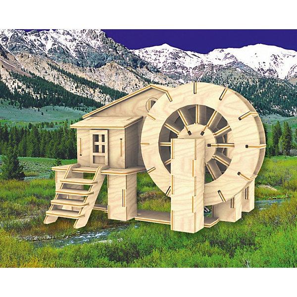 Водяная мельница, Мир деревянных игрушекДеревянные модели<br>Отличный вариант подарка для любящего архитектурные сооружения творческого ребенка - этот набор, из которого можно самому сделать красивую деревянную фигуру! Для этого нужно выдавить из пластины с деталями элементы для сборки и соединить их. Из наборов получаются красивые очень реалистичные игрушки, которые могут стать украшением комнаты.<br>Собирая их, ребенок будет развивать пространственное мышление, память и мелкую моторику. А раскрашивая готовое произведение, дети научатся подбирать цвета и будут развивать художественные навыки. Этот набор произведен из качественных и безопасных для детей материалов - дерево тщательно обработано.<br><br>Дополнительная информация:<br><br>материал: дерево;<br>цвет: бежевый;<br>элементы: пластины с деталями для сборки, схема сборки;<br>размер упаковки: 23 х 37 см.<br><br>3D-пазл Водяная мельница от бренда Мир деревянных игрушек можно купить в нашем магазине.<br><br>Ширина мм: 350<br>Глубина мм: 50<br>Высота мм: 225<br>Вес г: 450<br>Возраст от месяцев: 36<br>Возраст до месяцев: 144<br>Пол: Унисекс<br>Возраст: Детский<br>SKU: 4969158