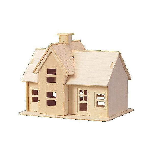 Летний домик, Мир деревянных игрушекДеревянные модели<br>Интересный вариант подарка для любящего архитектуру творческого ребенка - этот набор, из которого можно самому сделать красивую деревянную фигуру! Для этого нужно выдавить из пластины с деталями элементы для сборки и соединить их. Из наборов получаются красивые очень реалистичные игрушки, которые могут стать украшением комнаты.<br>Собирая их, ребенок будет развивать пространственное мышление, память и мелкую моторику. А раскрашивая готовое произведение, дети научатся подбирать цвета и будут развивать художественные навыки. Этот набор произведен из качественных и безопасных для детей материалов - дерево тщательно обработано.<br><br>Дополнительная информация:<br><br>материал: дерево;<br>цвет: бежевый;<br>элементы: пластины с деталями для сборки, схема сборки;<br>размер упаковки: 23 х 18 см.<br><br>3D-пазл Летний домик от бренда Мир деревянных игрушек можно купить в нашем магазине.<br><br>Ширина мм: 225<br>Глубина мм: 30<br>Высота мм: 180<br>Вес г: 450<br>Возраст от месяцев: 36<br>Возраст до месяцев: 144<br>Пол: Унисекс<br>Возраст: Детский<br>SKU: 4969159