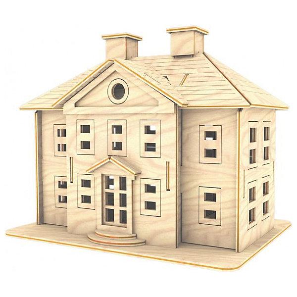 Усадьба, Мир деревянных игрушекДеревянные модели<br>Удачный вариант подарка для творческого ребенка - этот набор, из которого можно самому сделать красивую деревянную фигуру! Для этого нужно выдавить из пластины с деталями элементы для сборки и соединить их. Из наборов получаются красивые очень реалистичные игрушки, которые могут стать украшением комнаты.<br>Собирая их, ребенок будет развивать пространственное мышление, память и мелкую моторику. А раскрашивая готовое произведение, дети научатся подбирать цвета и будут развивать художественные навыки. Этот набор произведен из качественных и безопасных для детей материалов - дерево тщательно обработано.<br><br>Дополнительная информация:<br><br>материал: дерево;<br>цвет: бежевый;<br>элементы: пластины с деталями для сборки, схема сборки;<br>размер упаковки: 23 х 37 см.<br><br>3D-пазл Усадьба от бренда Мир деревянных игрушек можно купить в нашем магазине.<br><br>Ширина мм: 225<br>Глубина мм: 30<br>Высота мм: 180<br>Вес г: 450<br>Возраст от месяцев: 36<br>Возраст до месяцев: 144<br>Пол: Унисекс<br>Возраст: Детский<br>SKU: 4969161
