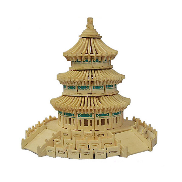 Храм неба, Мир деревянных игрушекДеревянные модели<br>Удачный вариант подарка для творческого ребенка - этот набор, из которого можно самому сделать красивую деревянную фигуру! Для этого нужно выдавить из пластины с деталями элементы для сборки и соединить их. Из наборов получаются красивые очень реалистичные игрушки, которые могут стать украшением комнаты.<br>Собирая их, ребенок будет развивать пространственное мышление, память и мелкую моторику. А раскрашивая готовое произведение, дети научатся подбирать цвета и будут развивать художественные навыки. Этот набор произведен из качественных и безопасных для детей материалов - дерево тщательно обработано.<br><br>Дополнительная информация:<br><br>материал: дерево;<br>цвет: бежевый;<br>элементы: пластины с деталями для сборки, схема сборки;<br>размер упаковки: 23 х 37 см.<br><br>3D-пазл Храм неба от бренда Мир деревянных игрушек можно купить в нашем магазине.<br>Ширина мм: 350; Глубина мм: 50; Высота мм: 225; Вес г: 450; Возраст от месяцев: 36; Возраст до месяцев: 144; Пол: Унисекс; Возраст: Детский; SKU: 4969166;