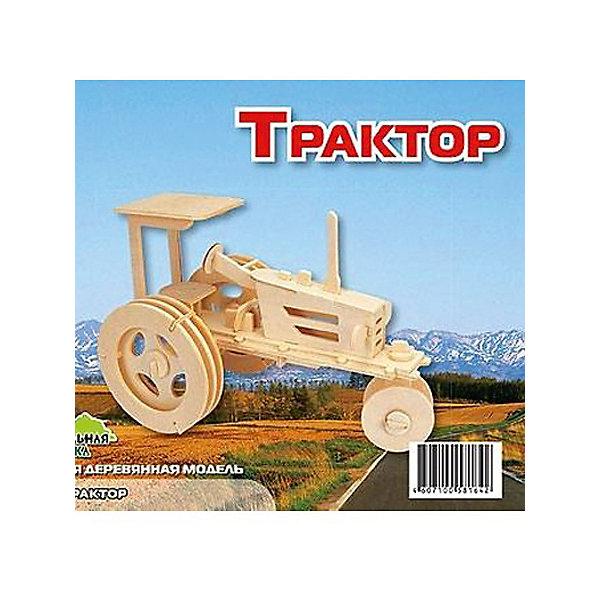 Трактор, Мир деревянных игрушекДеревянные модели<br>Отличный вариант подарка для любящего технику творческого ребенка - этот набор, из которого можно самому сделать красивую деревянную фигуру! Для этого нужно выдавить из пластины с деталями элементы для сборки и соединить их. Из наборов получаются красивые очень реалистичные игрушки, которые могут стать украшением комнаты.<br>Собирая их, ребенок будет развивать пространственное мышление, память и мелкую моторику. А раскрашивая готовое произведение, дети научатся подбирать цвета и будут развивать художественные навыки. Этот набор произведен из качественных и безопасных для детей материалов - дерево тщательно обработано.<br><br>Дополнительная информация:<br><br>материал: дерево;<br>цвет: бежевый;<br>элементы: пластины с деталями для сборки, схема сборки;<br>размер упаковки: 23 х 18 см.<br><br>3D-пазл Трактор от бренда Мир деревянных игрушек можно купить в нашем магазине.<br><br>Ширина мм: 225<br>Глубина мм: 30<br>Высота мм: 180<br>Вес г: 450<br>Возраст от месяцев: 36<br>Возраст до месяцев: 144<br>Пол: Мужской<br>Возраст: Детский<br>SKU: 4969169
