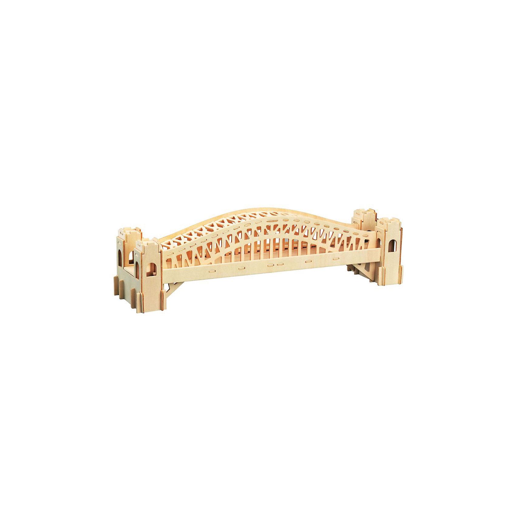 Сиднейский мост, Мир деревянных игрушекОтличный вариант подарка для любящего архитектуру творческого ребенка - этот набор, из которого можно самому сделать красивую деревянную фигуру! Для этого нужно выдавить из пластины с деталями элементы для сборки и соединить их. Из наборов получаются красивые очень реалистичные игрушки, которые могут стать украшением комнаты.<br>Собирая их, ребенок будет развивать пространственное мышление, память и мелкую моторику. А раскрашивая готовое произведение, дети научатся подбирать цвета и будут развивать художественные навыки. Этот набор произведен из качественных и безопасных для детей материалов - дерево тщательно обработано.<br><br>Дополнительная информация:<br><br>материал: дерево;<br>цвет: бежевый;<br>элементы: пластины с деталями для сборки, схема сборки;<br>размер упаковки: 23 х 37 см.<br><br>3D-пазл Сиднейский мост от бренда Мир деревянных игрушек можно купить в нашем магазине.<br><br>Ширина мм: 350<br>Глубина мм: 50<br>Высота мм: 225<br>Вес г: 450<br>Возраст от месяцев: 36<br>Возраст до месяцев: 144<br>Пол: Унисекс<br>Возраст: Детский<br>SKU: 4969170